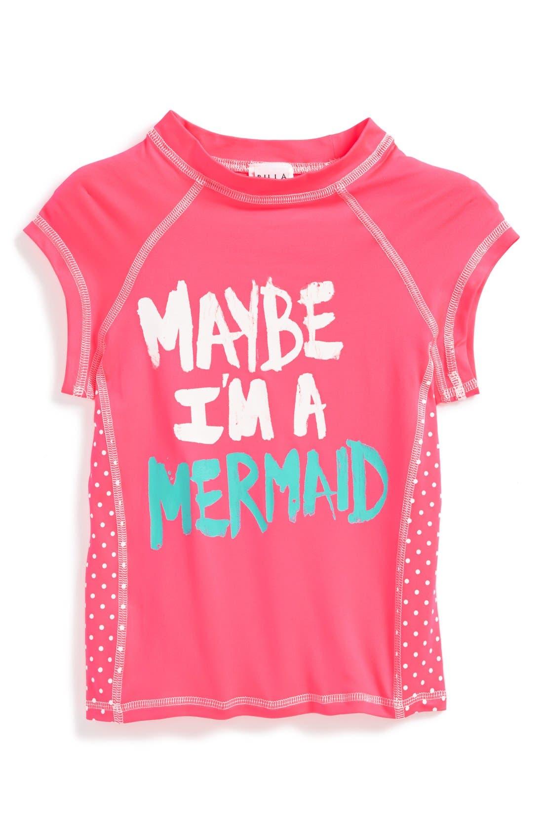 Alternate Image 1 Selected - Billabong 'Mermaid' Rashguard Tee (Little Girls)(Online Only)