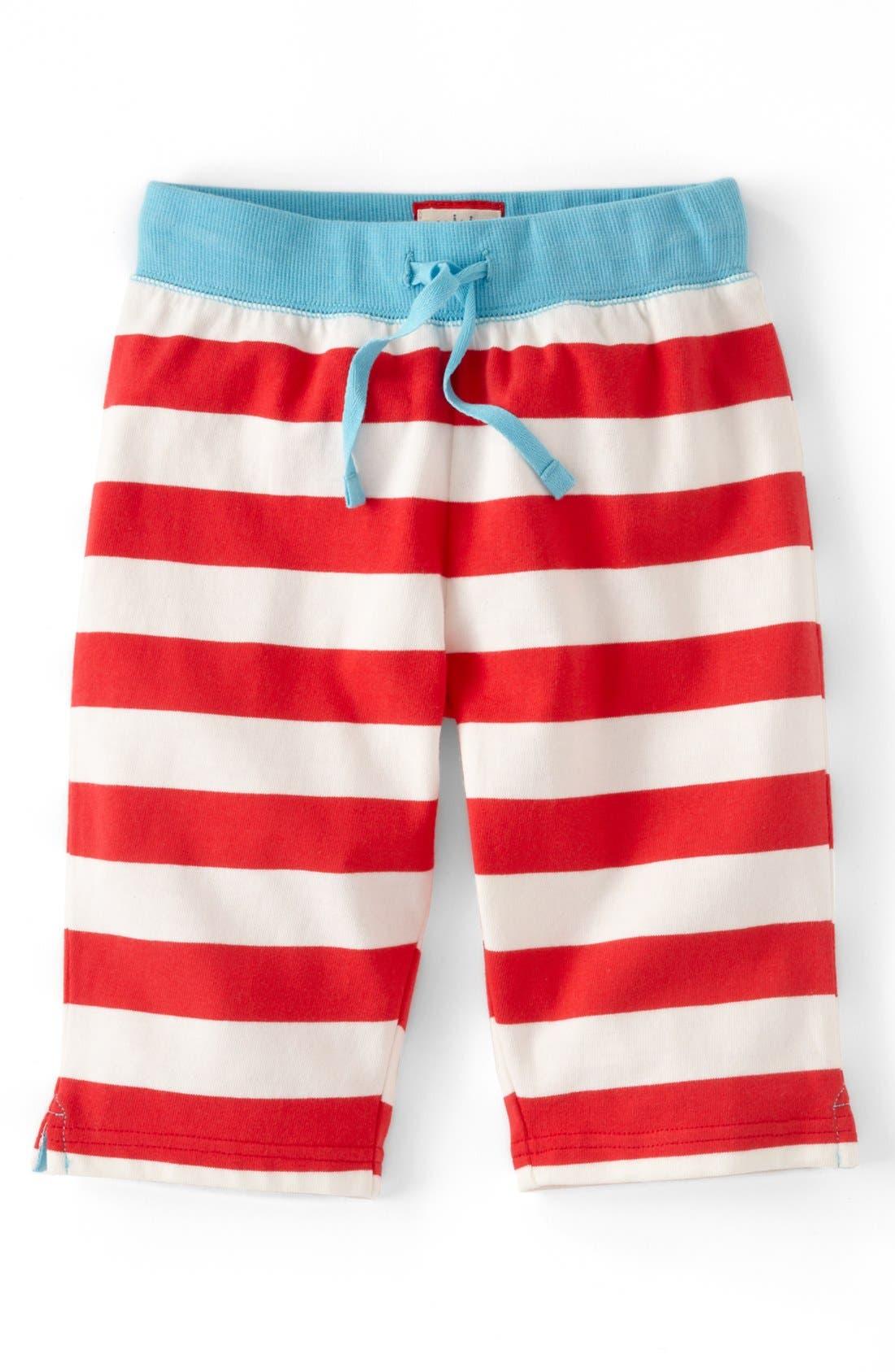 Main Image - Mini Boden Print Jersey Crop Pants (Toddler Girls)