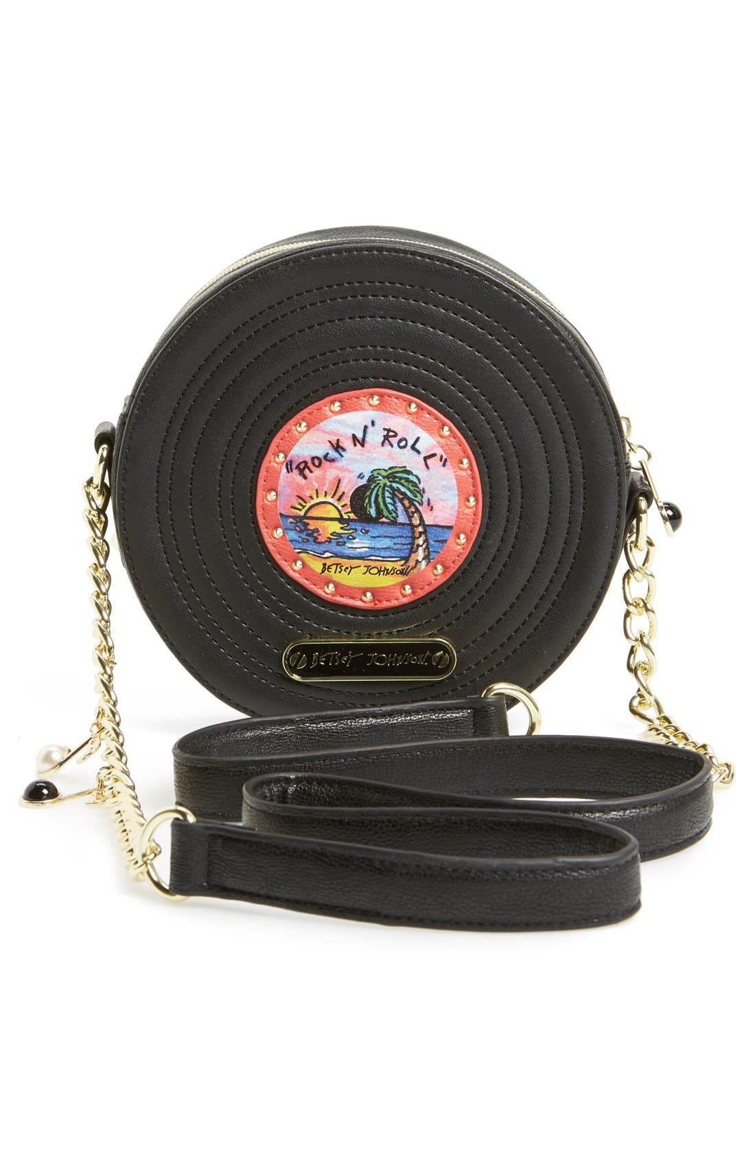 Alternate Image 4  - Betsey Johnson 'Record' Crossbody
