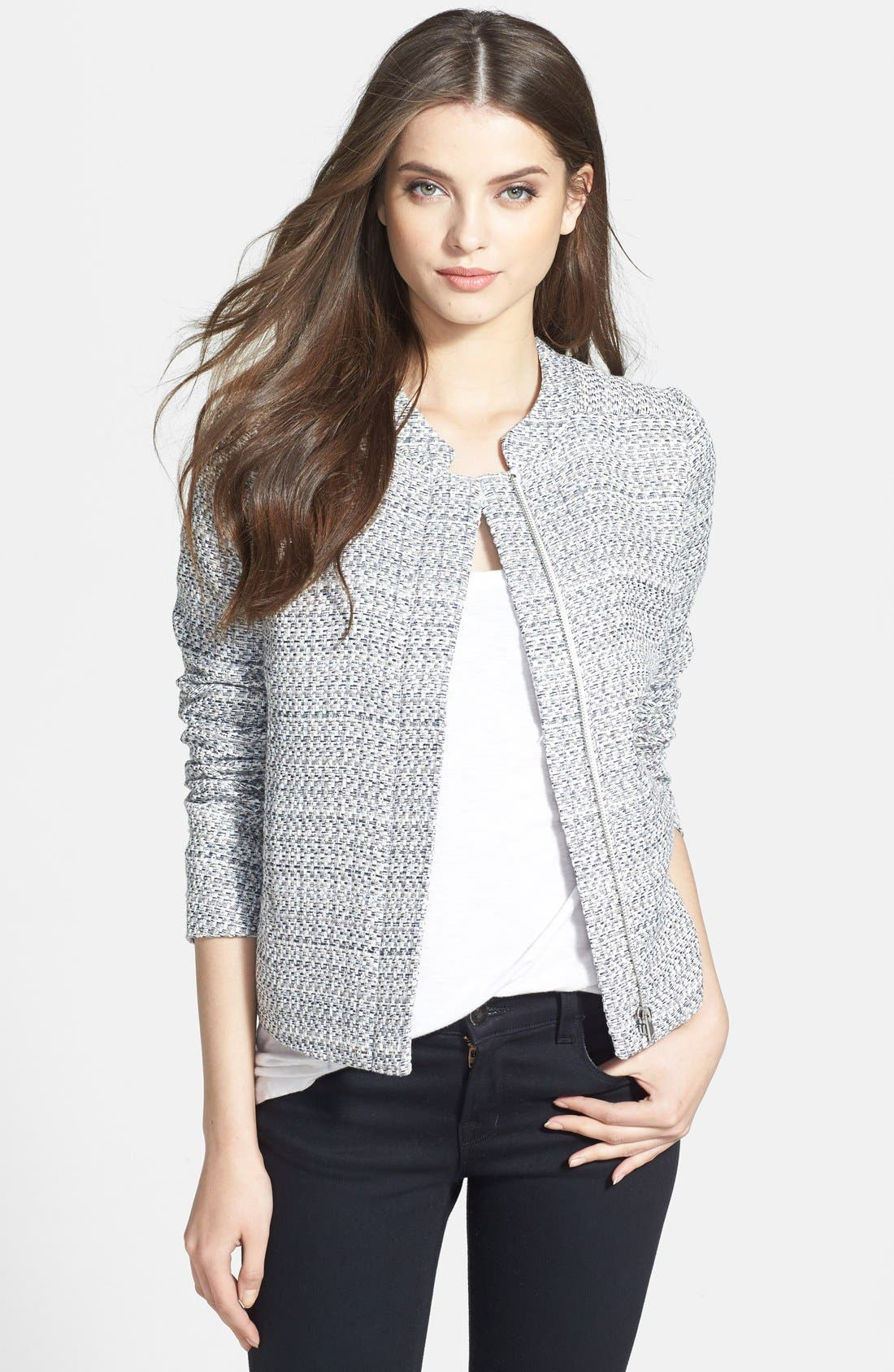 Alternate Image 1 Selected - NYDJ Front Zip Bouclé Jacket