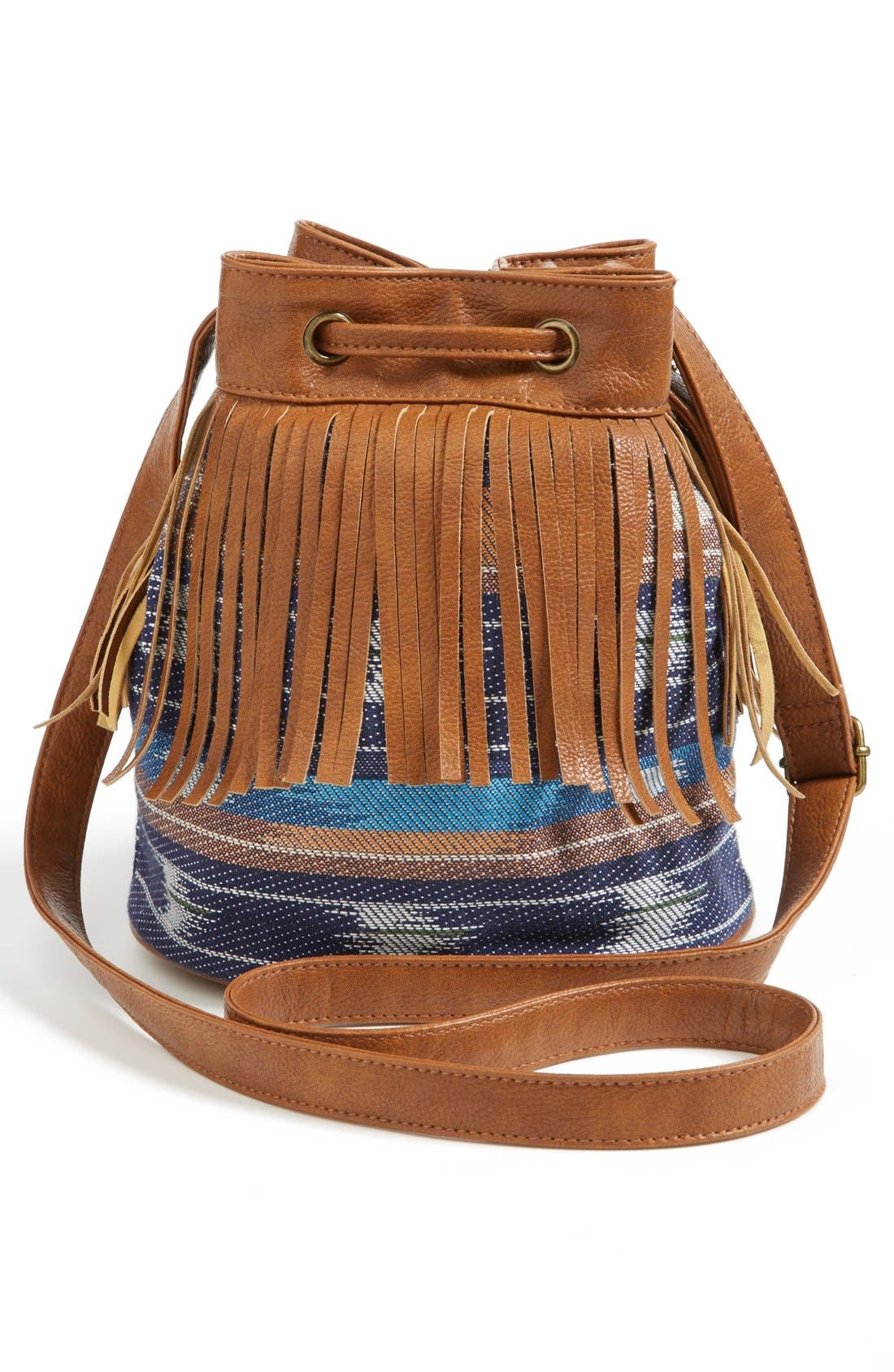 Alternate Image 3  - KENDALL + KYLIE Madden Girl Fringed Fabric Bucket Bag (Juniors)