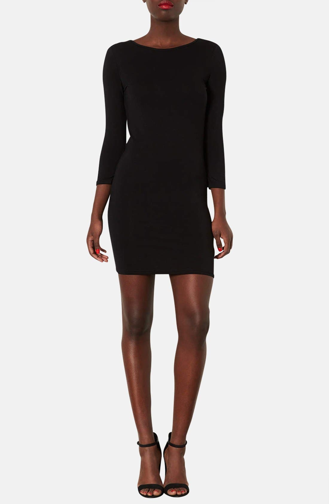 Alternate Image 1 Selected - Topshop Scoop Back Jersey Body-Con Dress