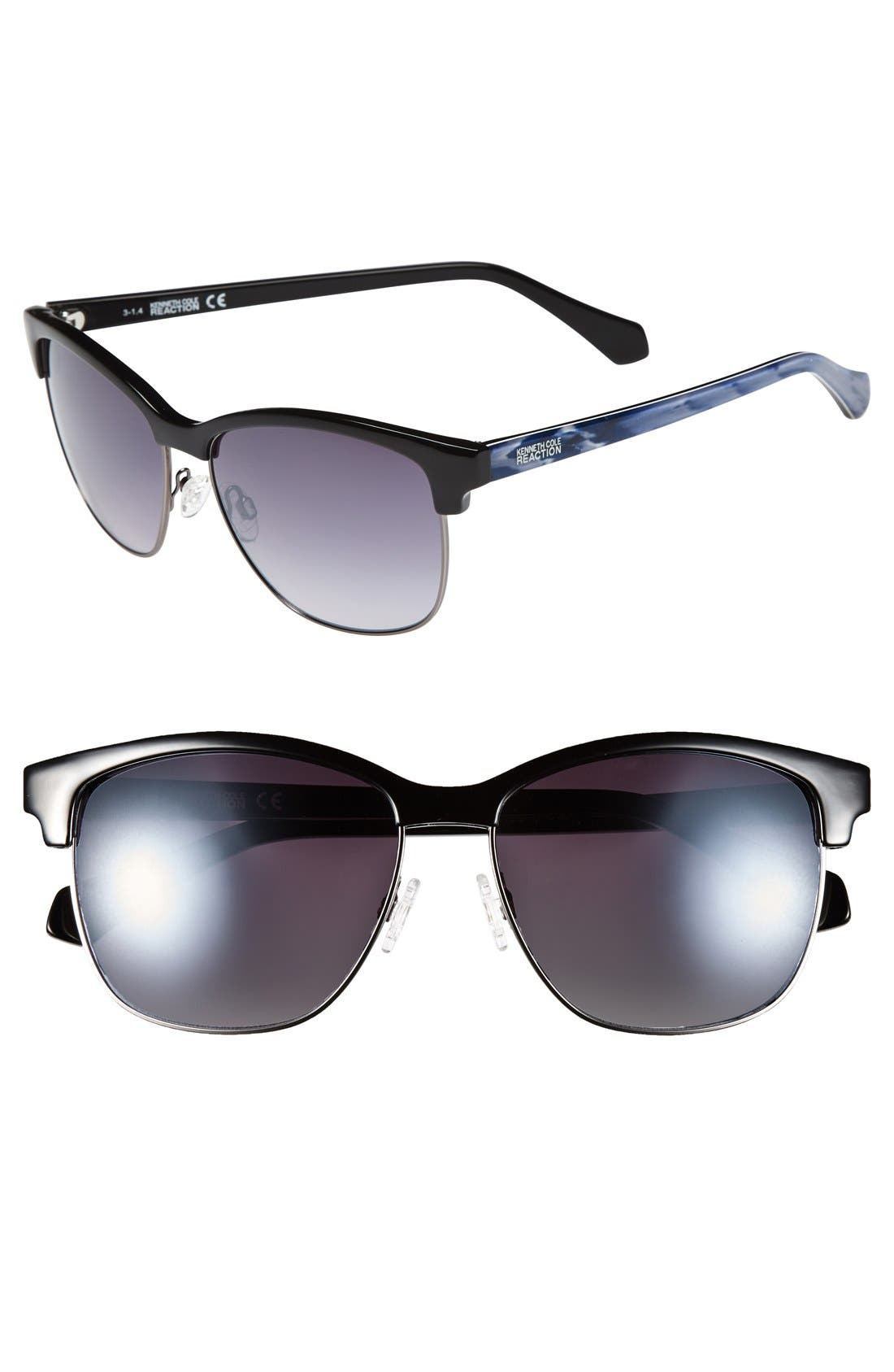 Main Image - Kenneth Cole Reaction 'Clubmaster' 57mm Sunglasses