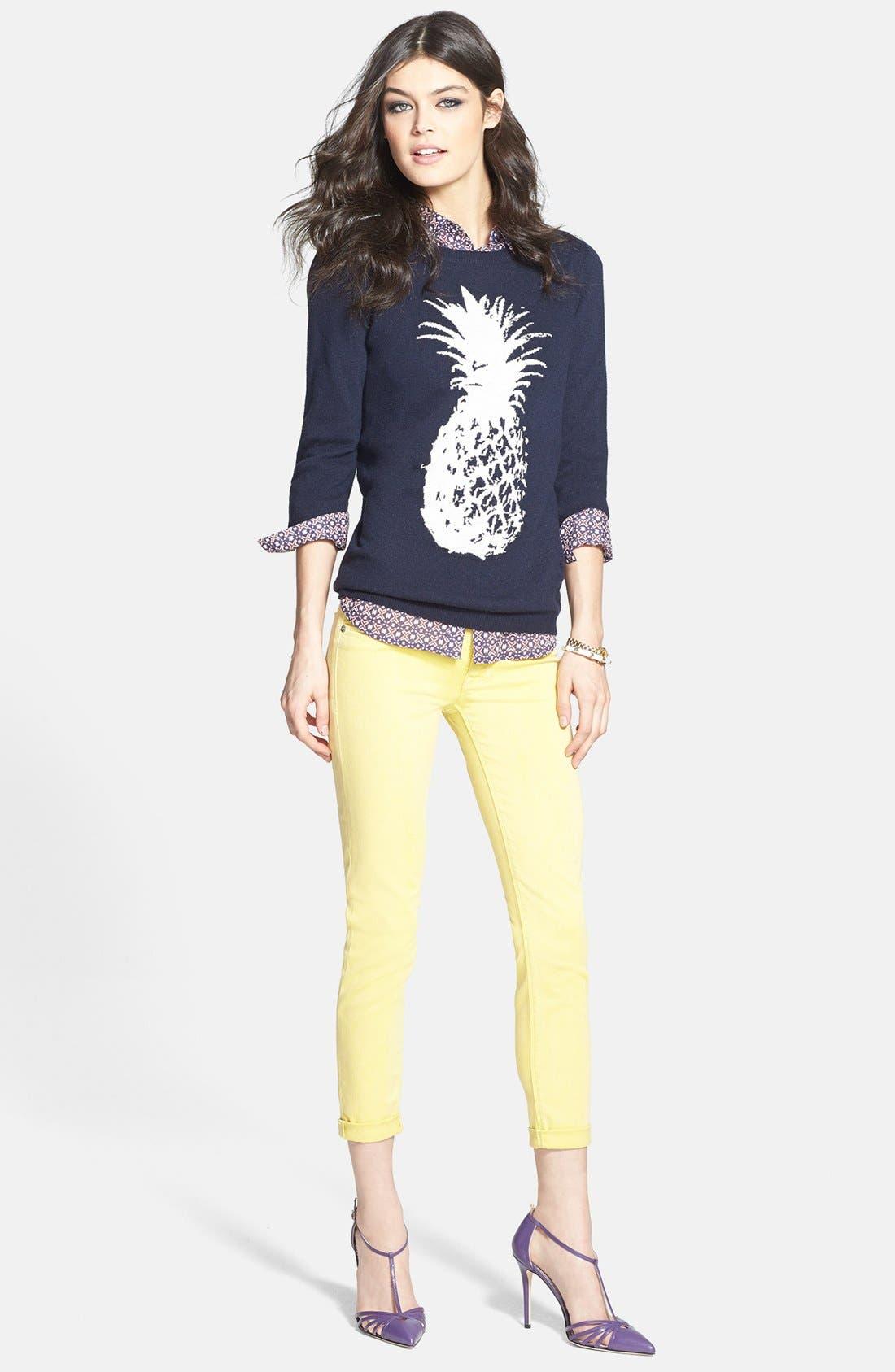 Alternate Image 4  - Hudson Jeans Crop Super Skinny Jeans (Goldmine)