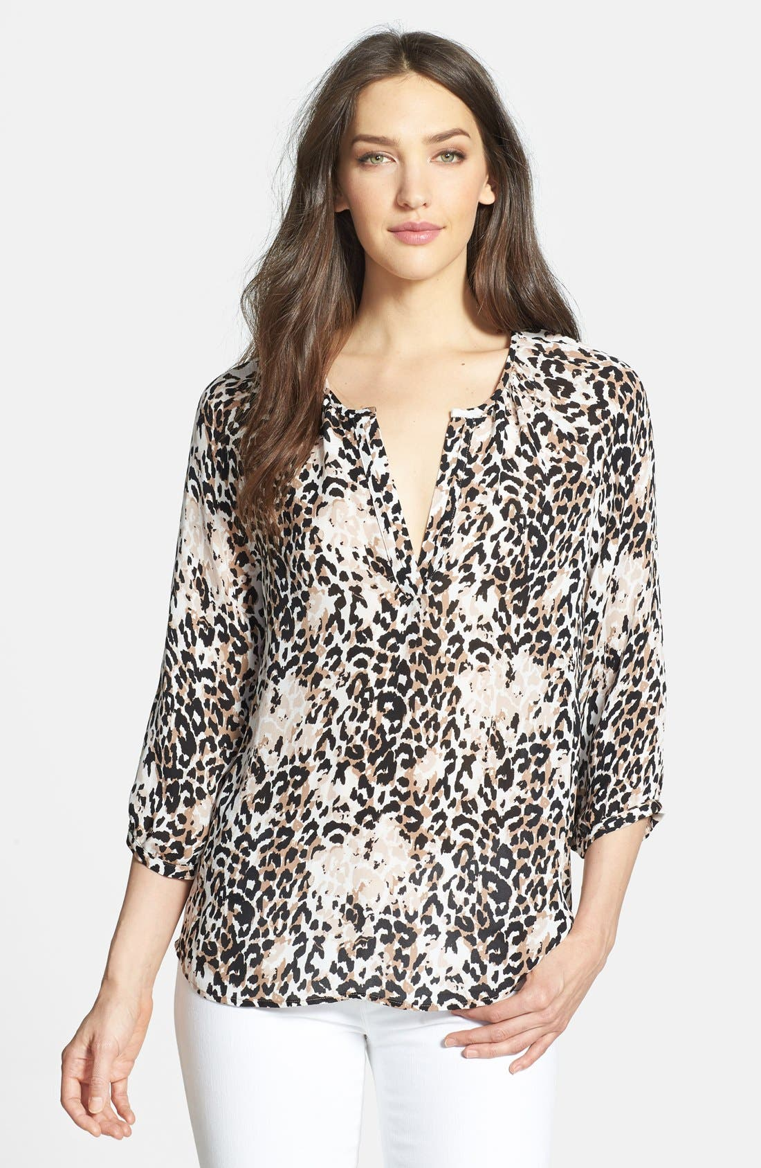 Alternate Image 1 Selected - Joie 'Coralee' Print Silk Blouse