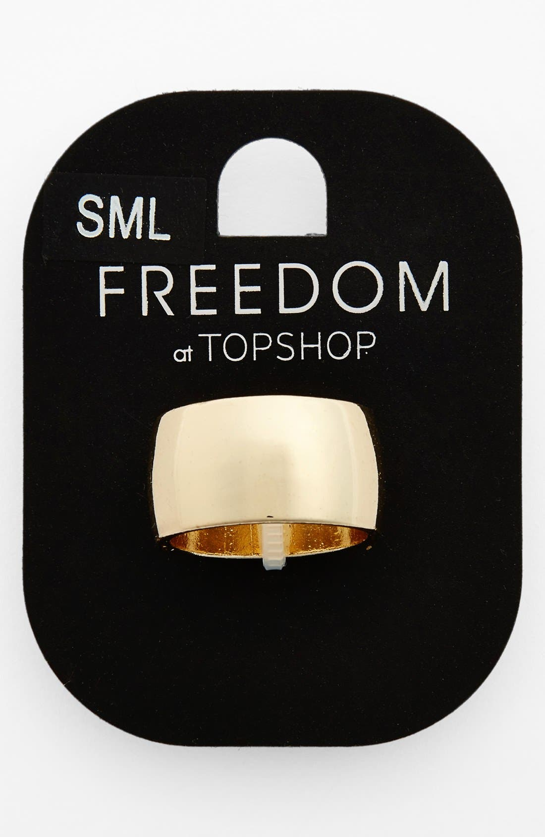 Alternate Image 1 Selected - Topshop Goldtone Band Ring