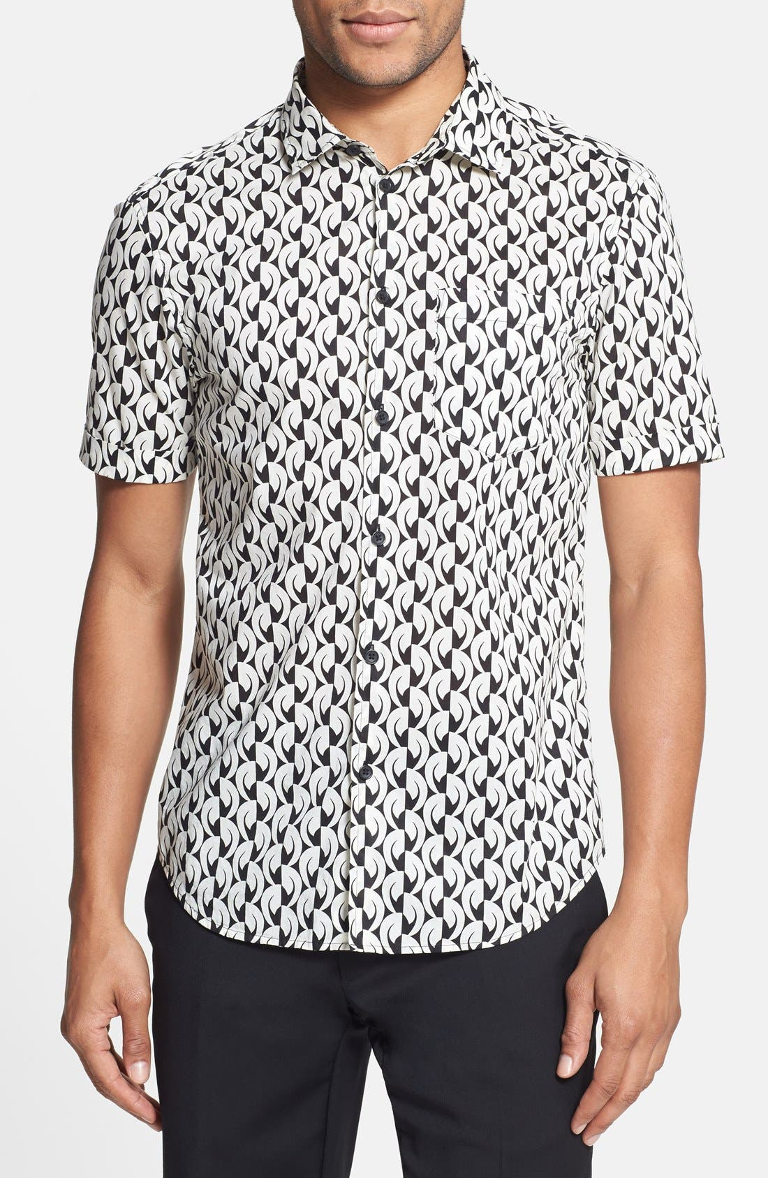 Main Image - MARC BY MARC JACOBS 'Bellflower' Print Short Sleeve Sport Shirt