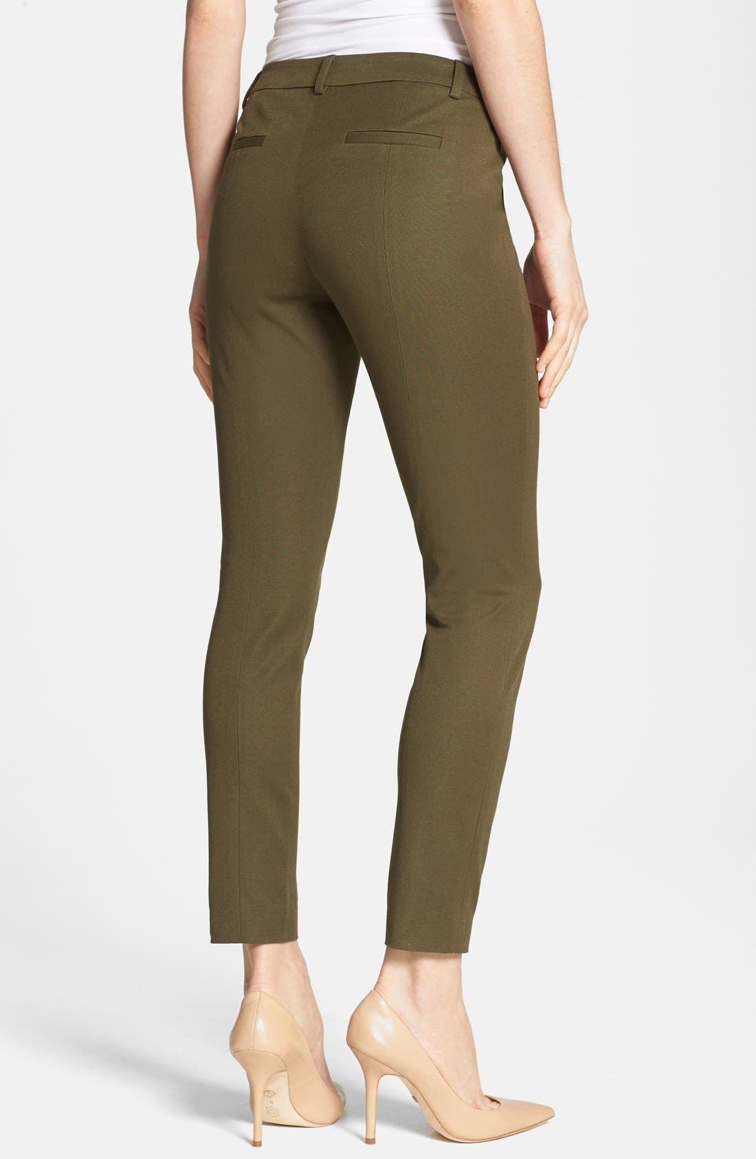 Alternate Image 2  - Halogen® Slim Fit Stretch Cotton Pants (Regular & Petite)