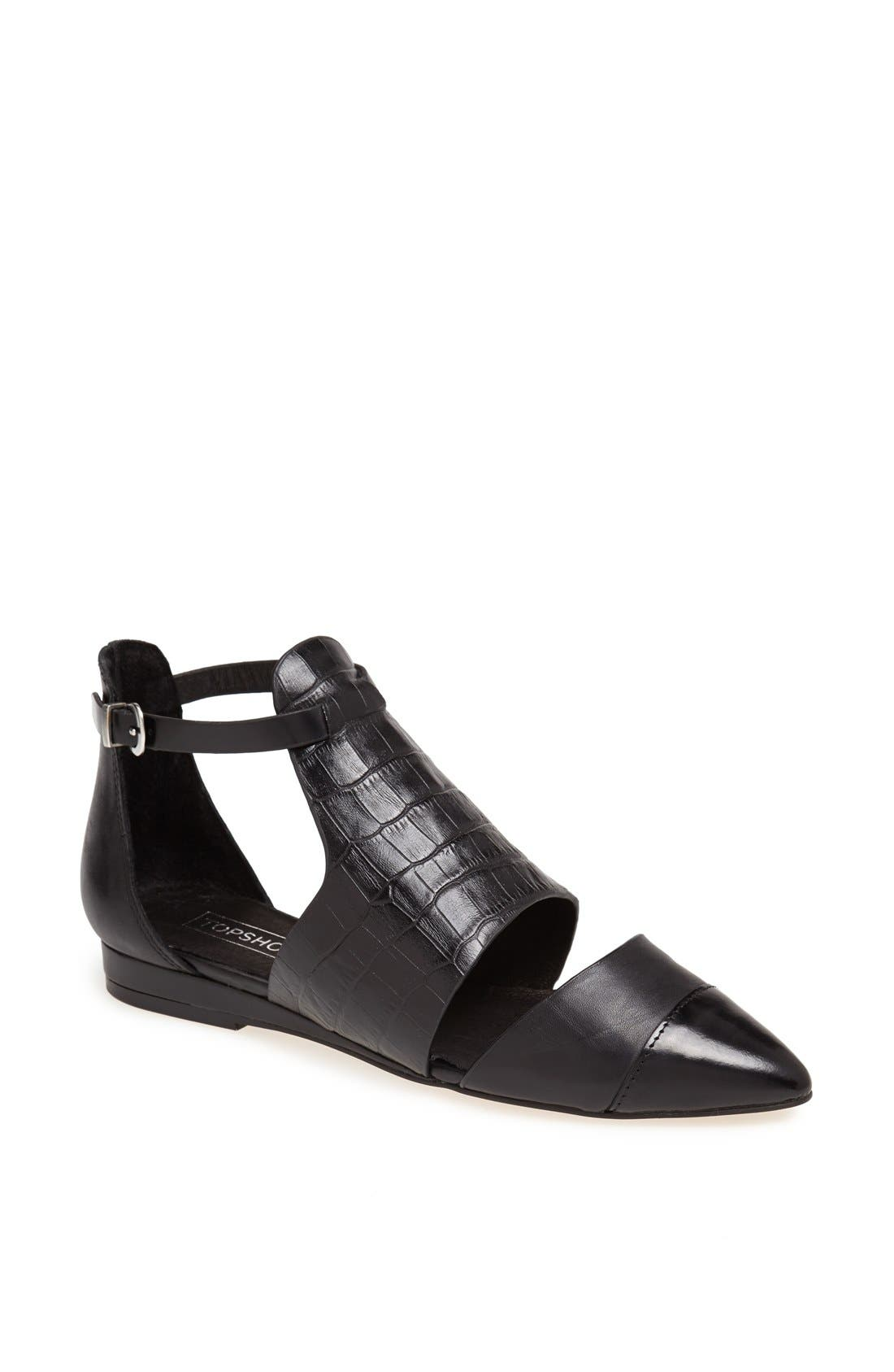 Alternate Image 1 Selected - Topshop 'Kinky' Pointy Toe Flat