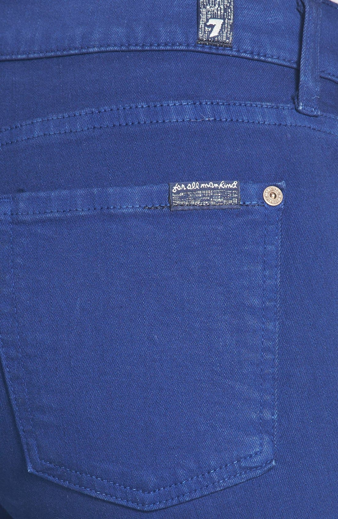 Alternate Image 3  - 7 For All Mankind® 'The Ankle Skinny' Jeans (Sapphire)