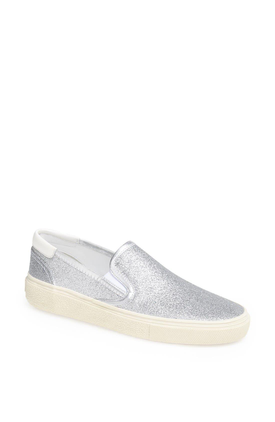 Alternate Image 1 Selected - Saint Laurent 'Skate 20' Glitter Slip-On Sneaker (Women)