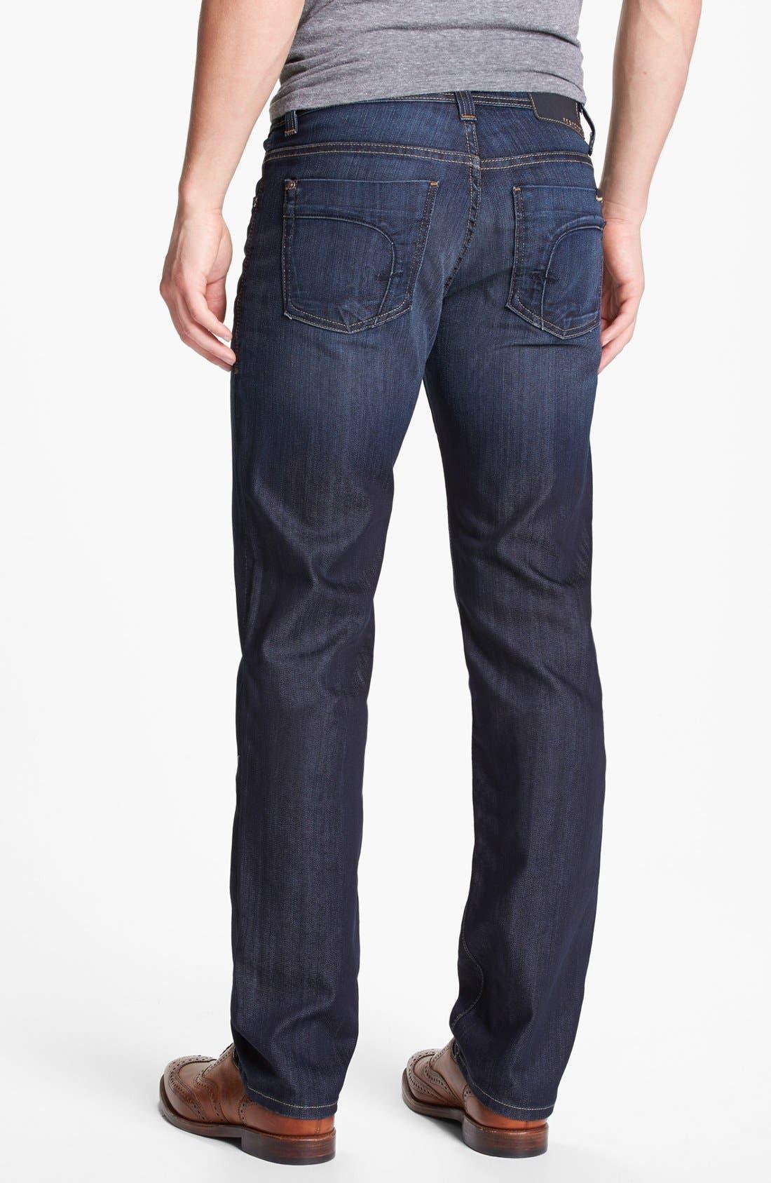 Alternate Image 2  - Fidelity Denim 'Slim Jim' Slim Fit Jeans (Trigger Dark) (Tall)