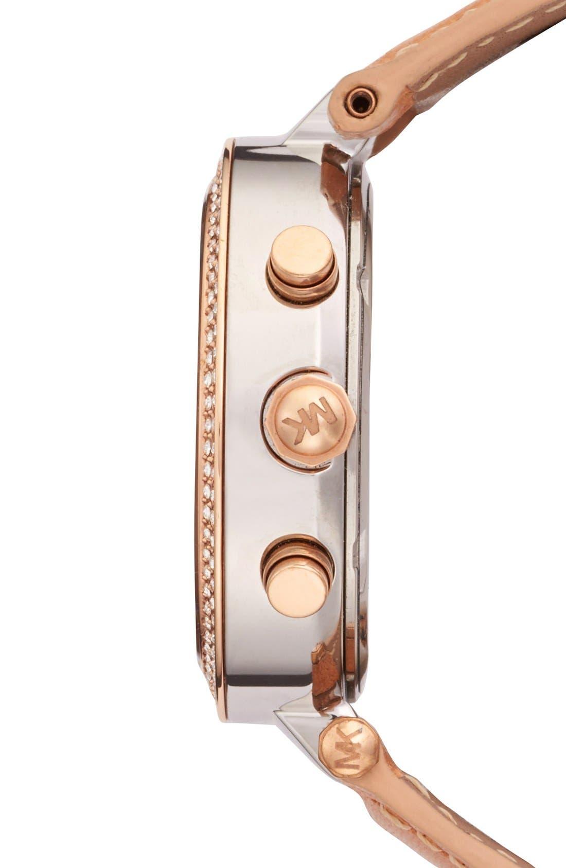 Alternate Image 3  - Michael Kors 'Parker' Chronograph Leather Watch, 39mm