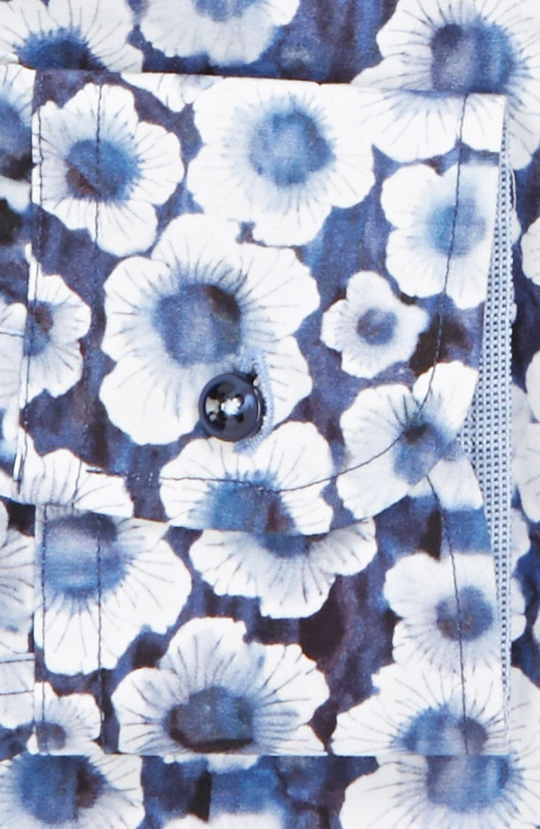 Alternate Image 2  - SAND Trim Fit Floral Print Dress Shirt