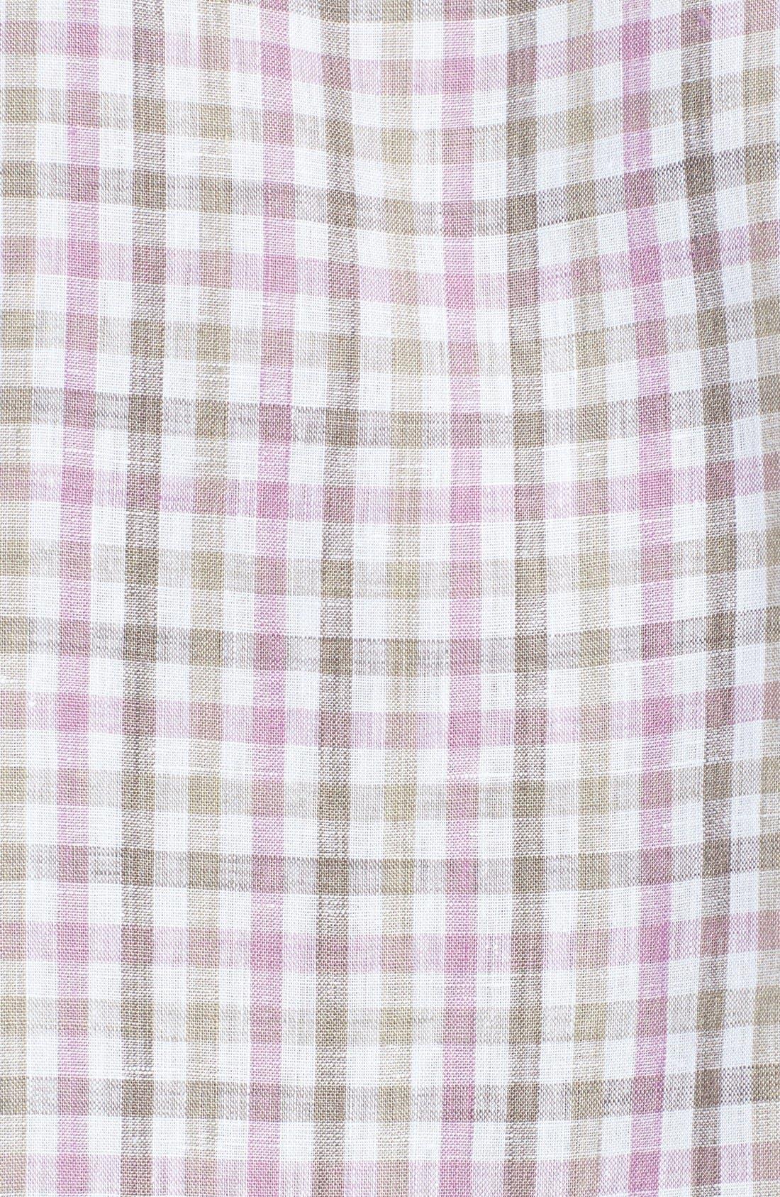 Alternate Image 3  - Thomas Dean Regular Fit Linen Sport Shirt