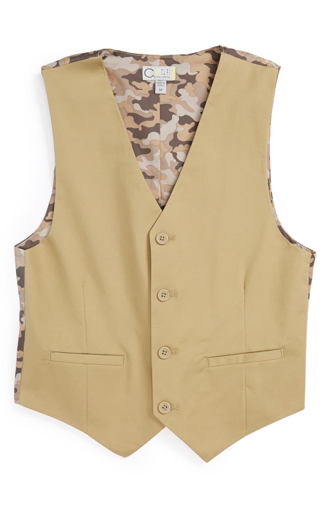 Main Image - C2 by Calibrate 'Spencer' Stretch Cotton Vest (Big Boys)