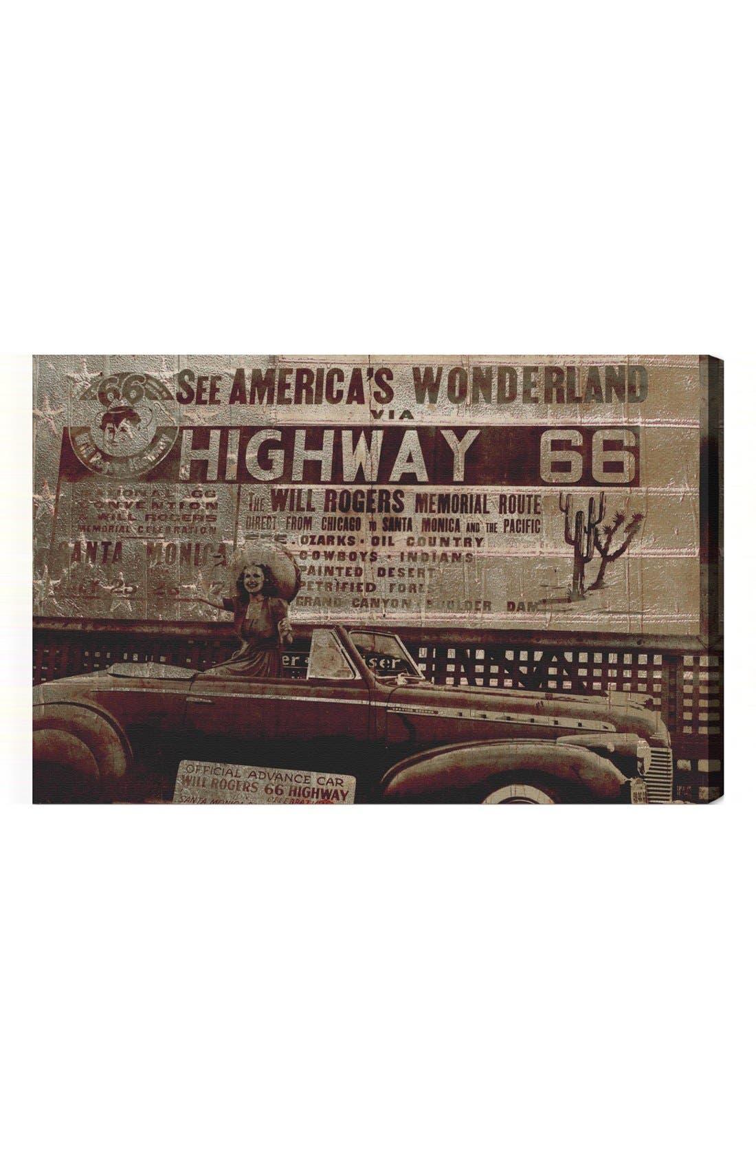 Alternate Image 1 Selected - Oliver Gal 'Highway 66' Wall Art