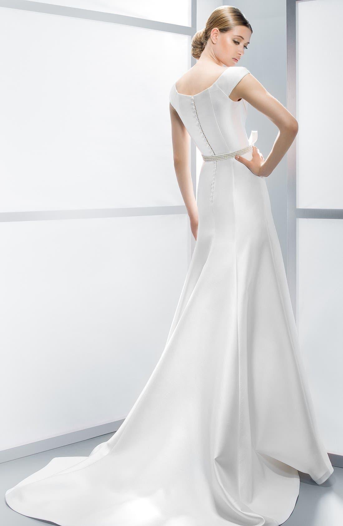 Alternate Image 5  - Jesús Peiró Embellished Waist Mikado A-Line Dress (In Stores Only)