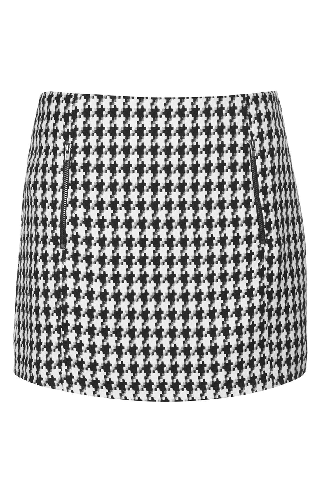 Alternate Image 3  - Topshop Zip Detail Houndstooth Skirt