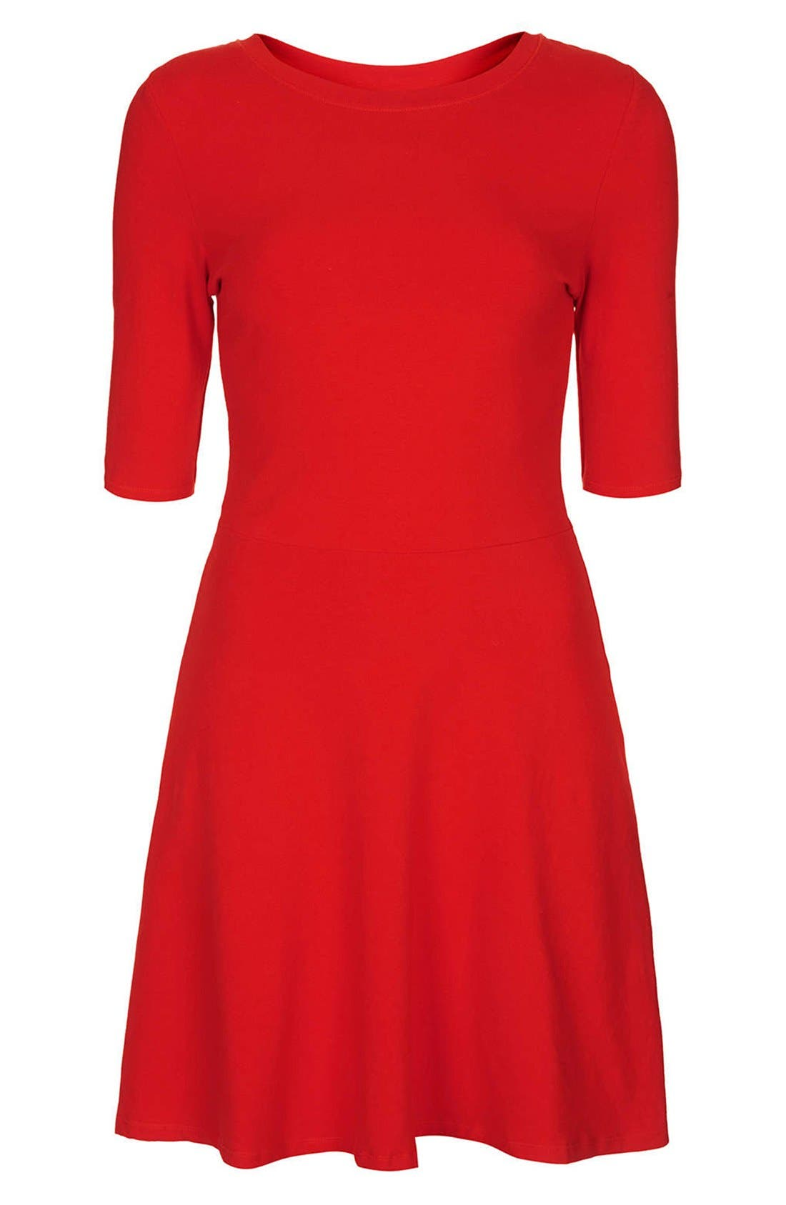 Alternate Image 3  - Topshop Elbow Sleeve Jersey Fit & Flare Dress
