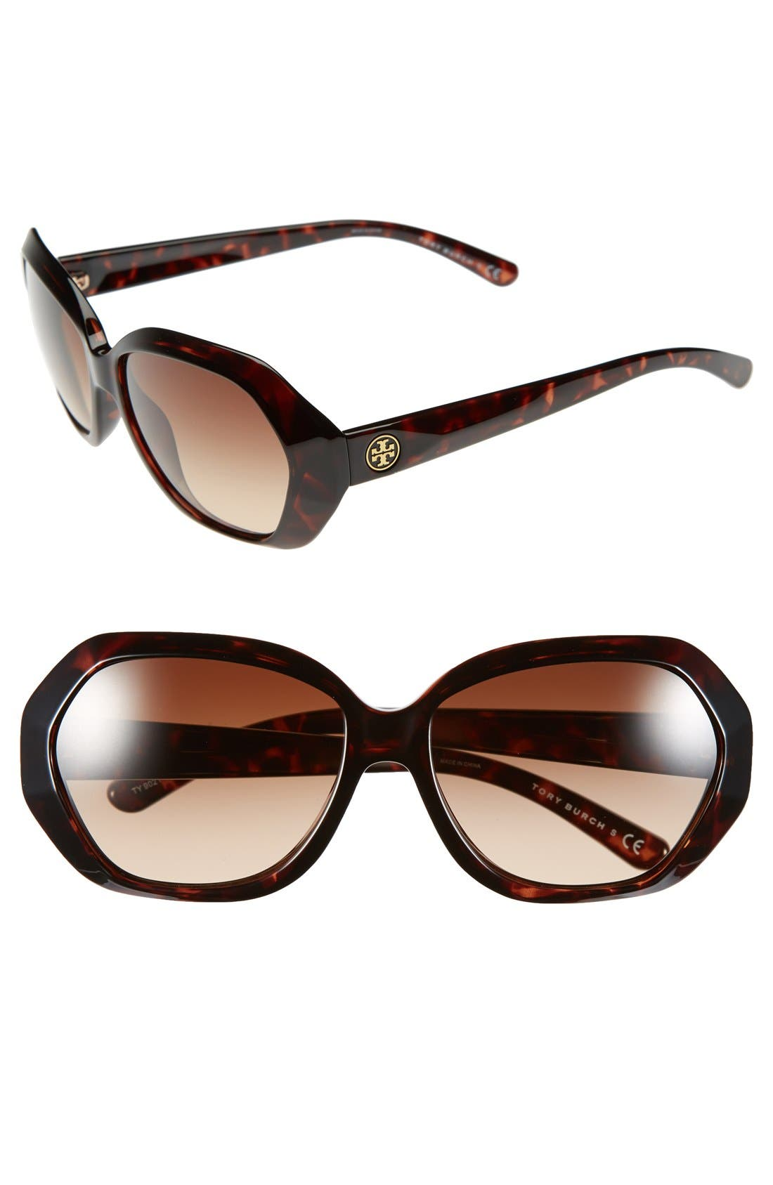 Alternate Image 1 Selected - Tory Burch 57mm Sunglasses