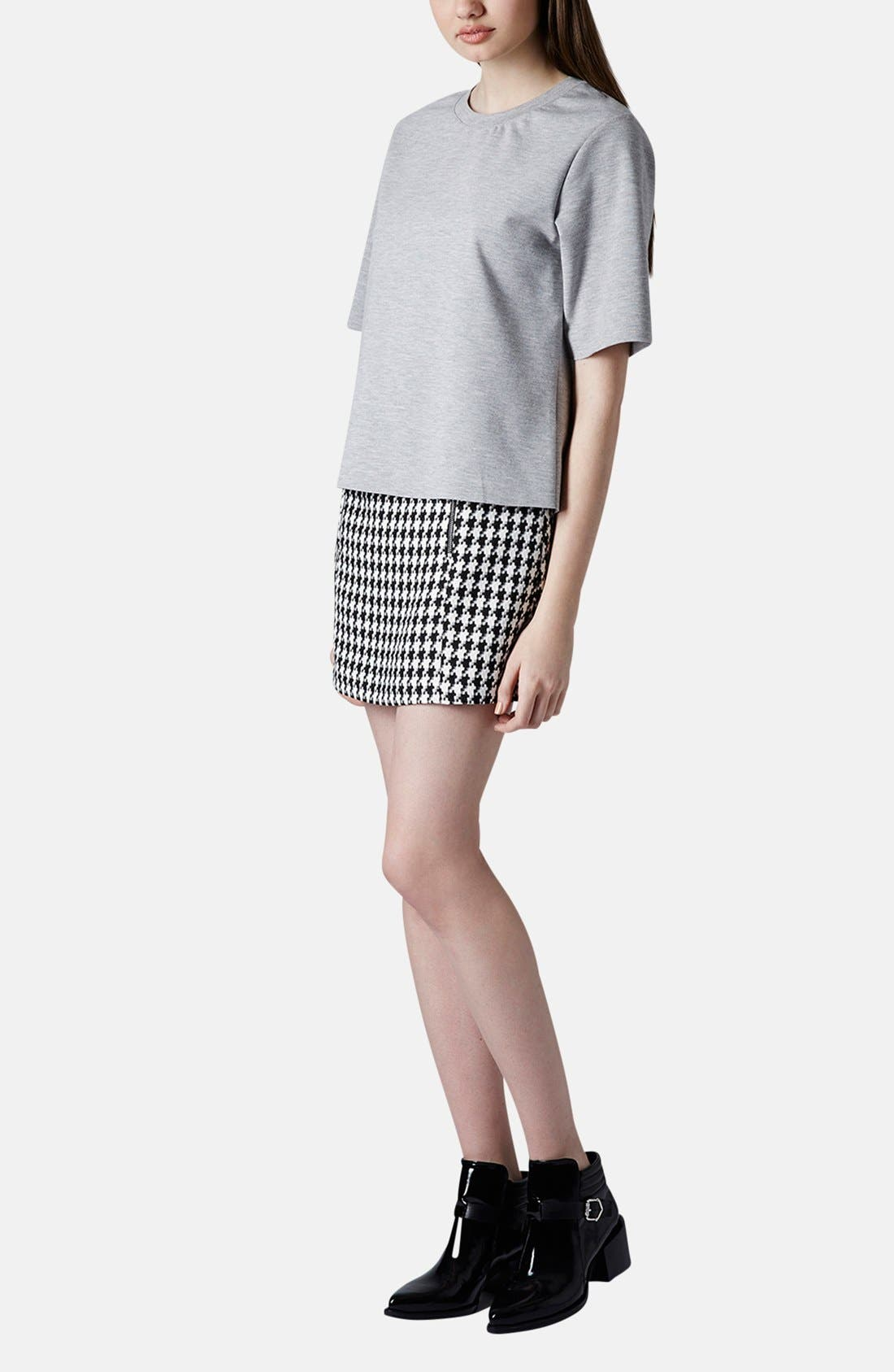 Alternate Image 5  - Topshop Zip Detail Houndstooth Skirt