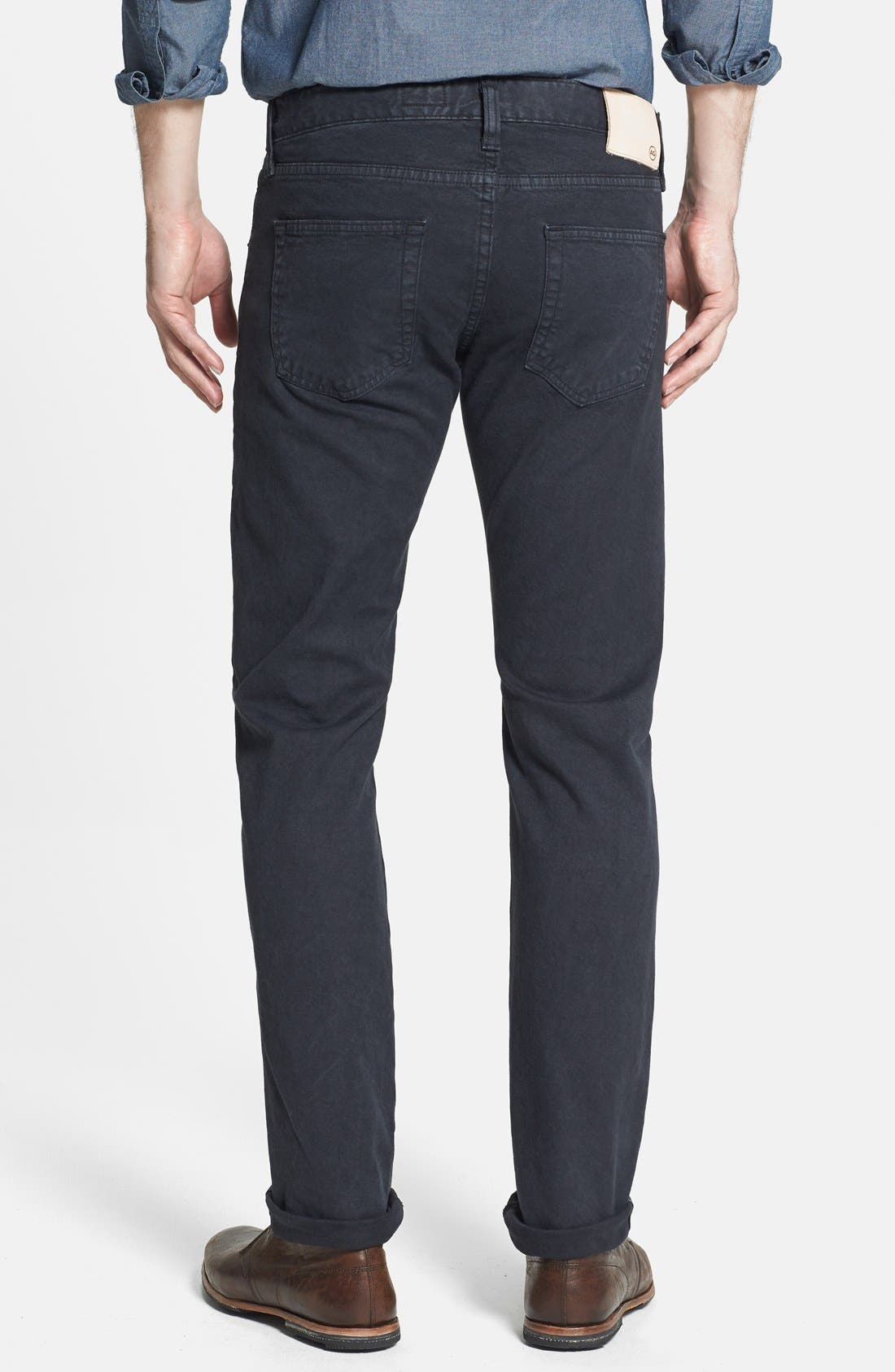 Alternate Image 2  - AG 'Matchbox' Slim Fit Selvedge Jeans (True Black)