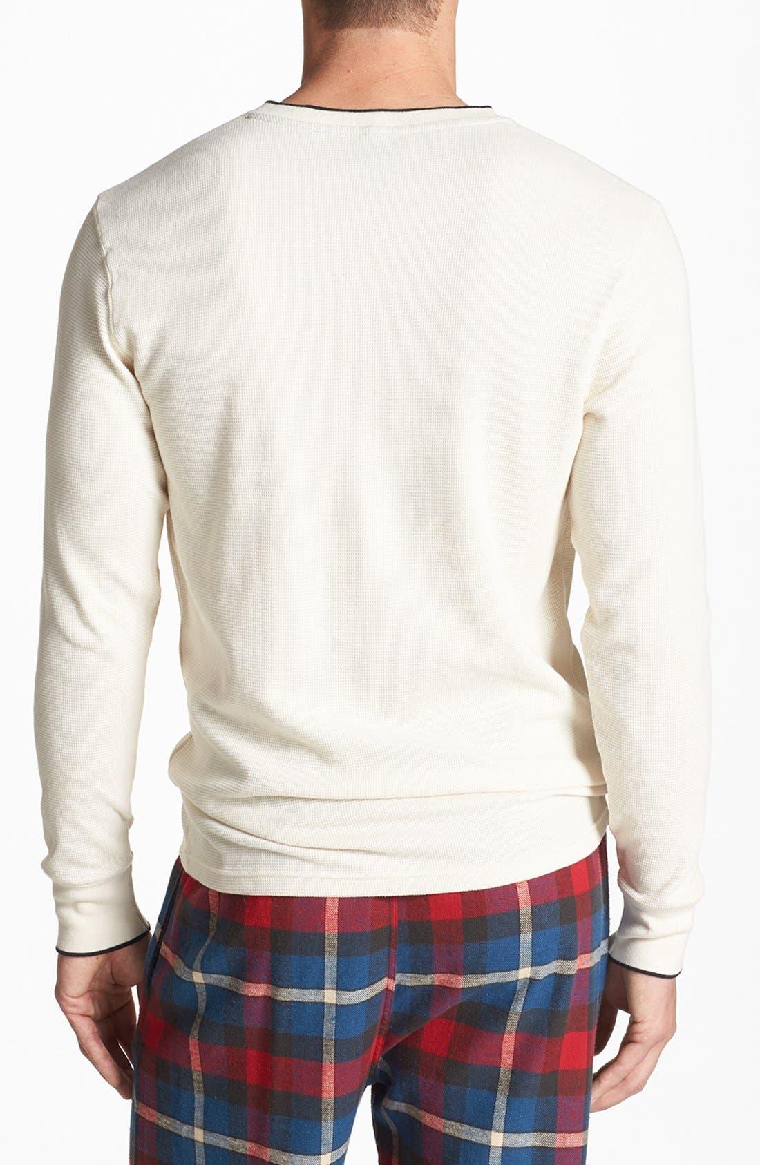 Alternate Image 2  - Polo Ralph Lauren Waffle Knit Lounge Shirt