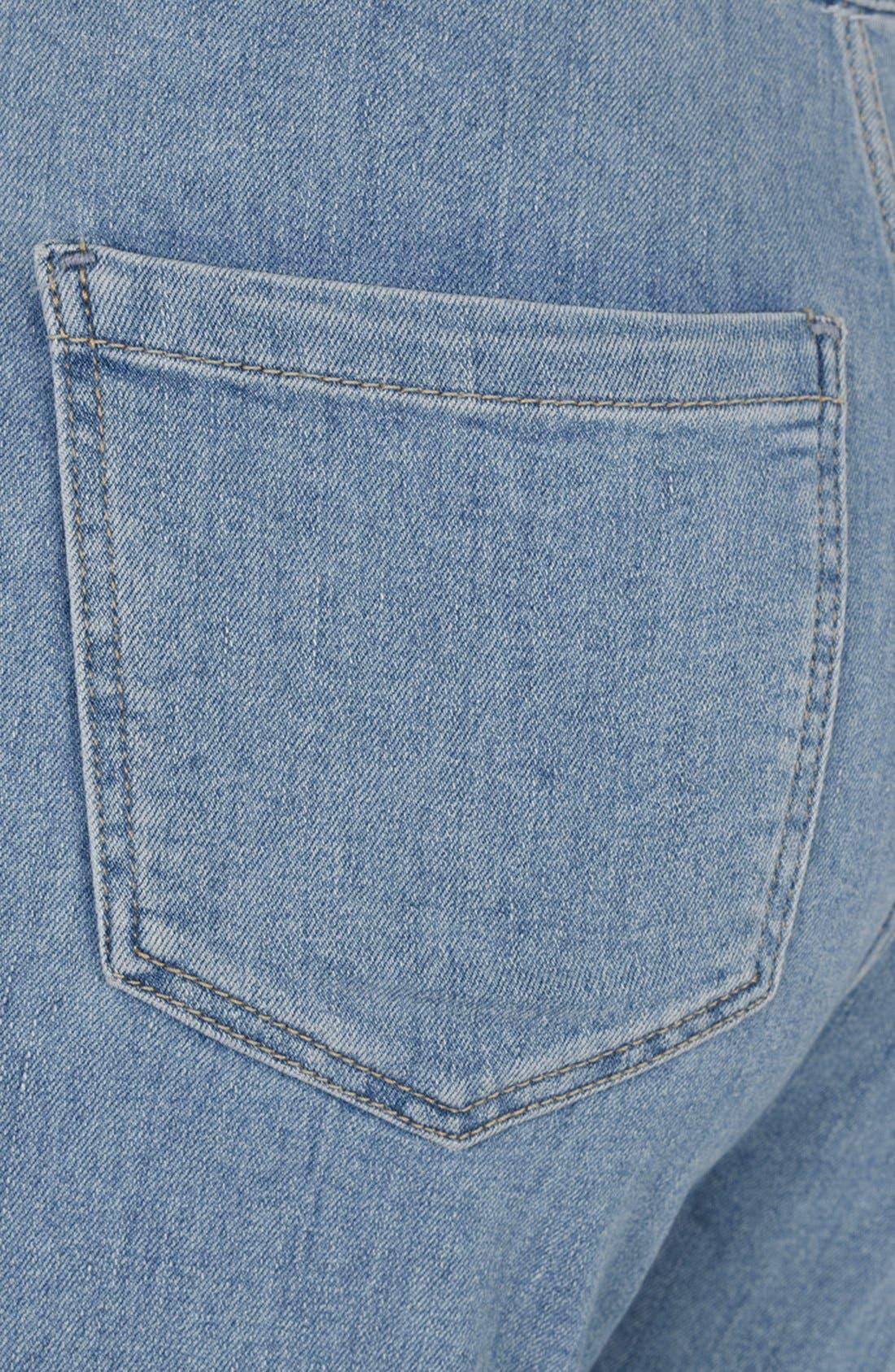 Alternate Image 3  - Topshop Moto 'Joni' High Rise Skinny Jeans (Mid Stone)