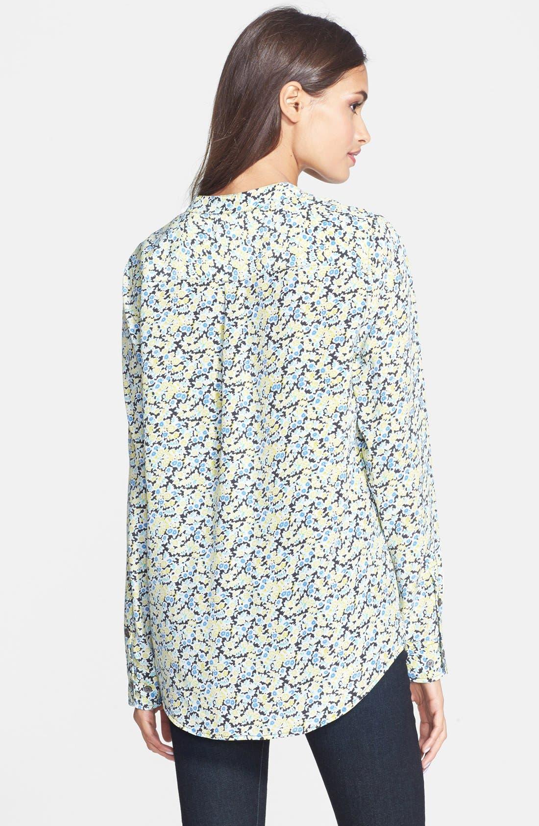 Alternate Image 2  - Equipment 'Ava' Flower Print Silk Shirt