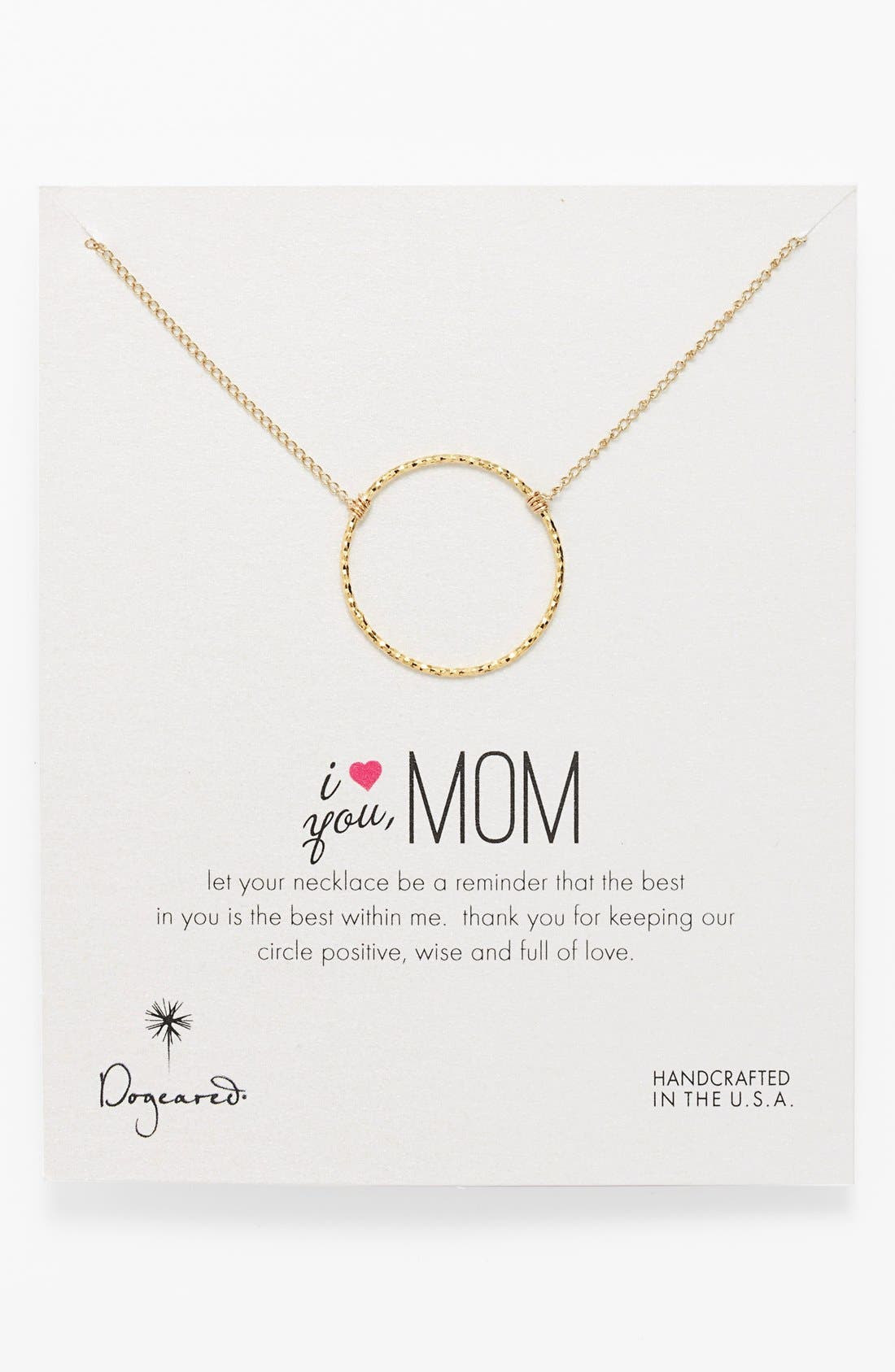 Alternate Image 1 Selected - Dogeared ' I Love You, Mom' Mother's Day Boxed Pendant Necklace