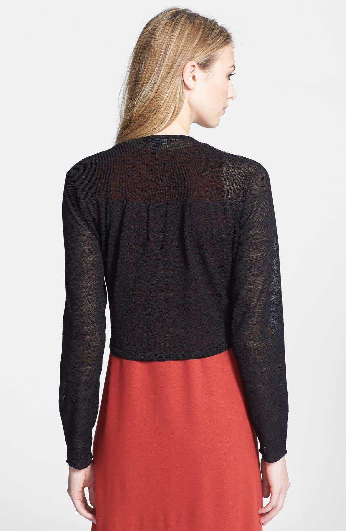 Alternate Image 2  - Eileen Fisher Linen Blend Cropped Cardigan