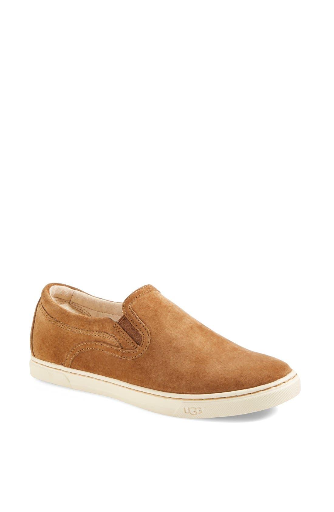 Main Image - UGG® Fierce Water Resistant Suede Slip-On Sneaker (Nordstrom Exclusive Color) (Women)