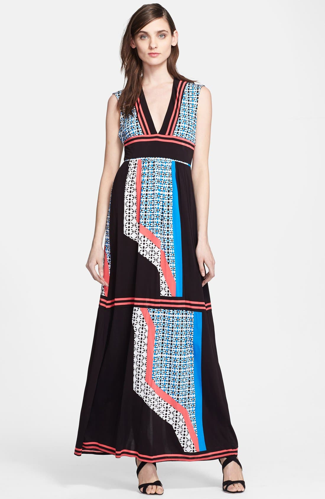 Alternate Image 1 Selected - Tracy Reese Reversible Print Jersey Maxi Dress