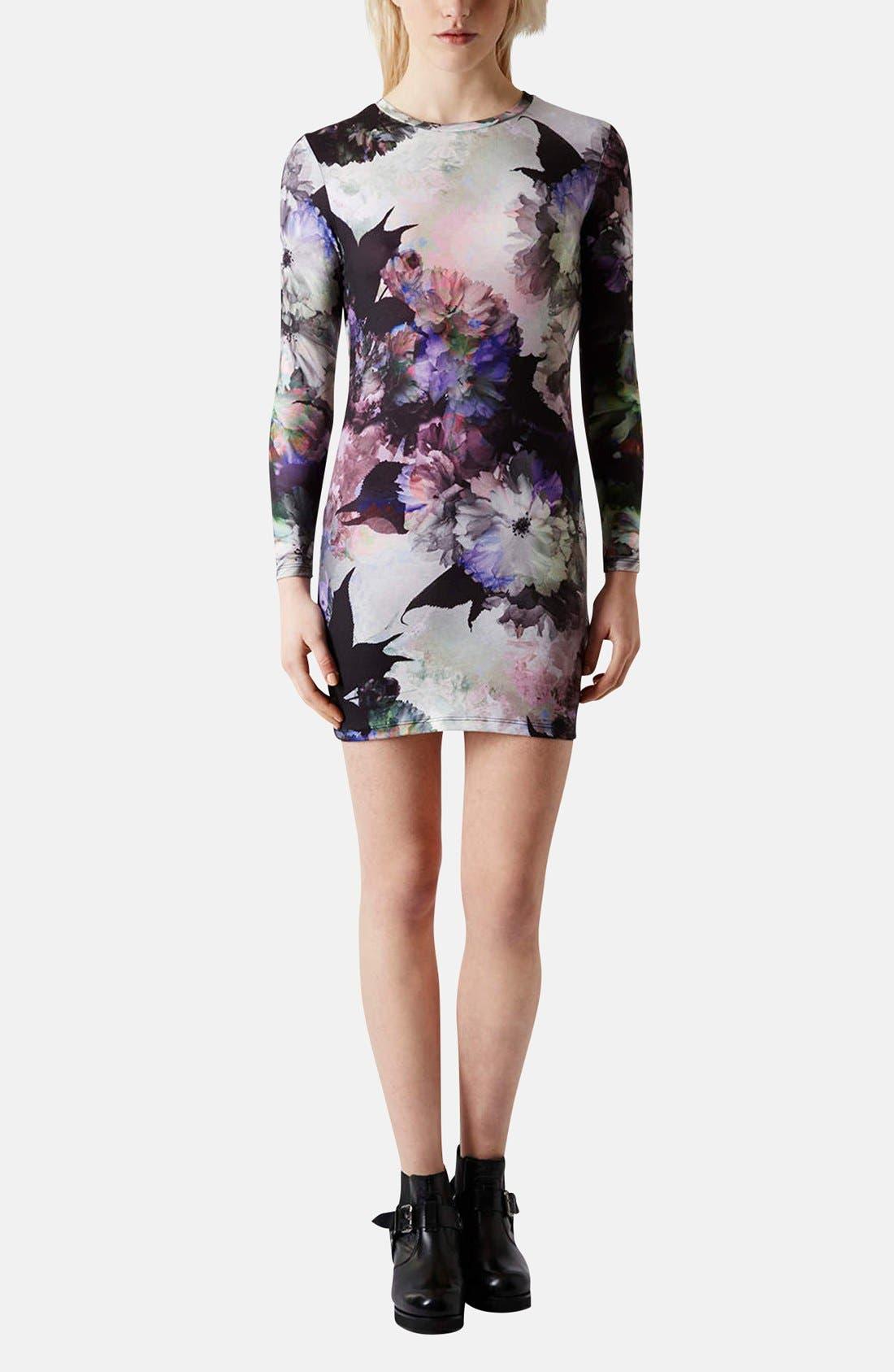 Alternate Image 5  - Topshop Floral Print Body-Con Dress (Petite)