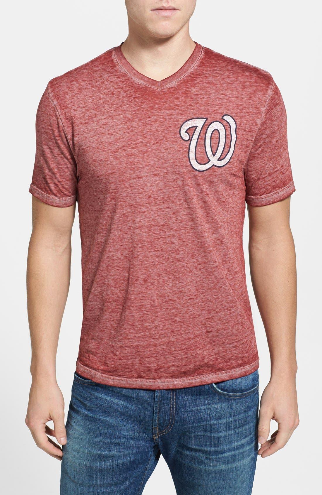 Alternate Image 1 Selected - Red Jacket 'Washington Nationals - Burnout' V-Neck T-Shirt