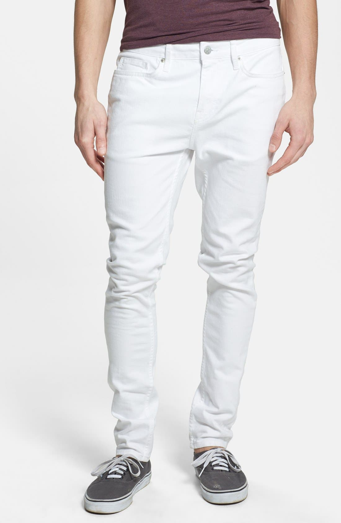 Stretch Skinny Fit Jeans,                         Main,                         color, White