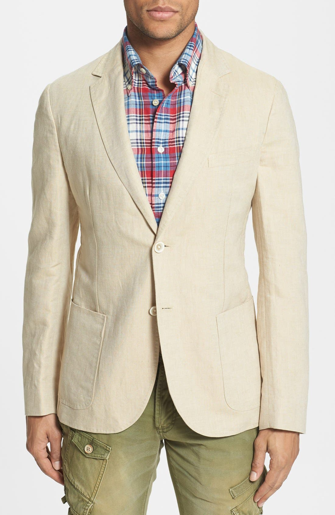 Main Image - Gant 'Fresco' Regular Fit Linen Blend Blazer