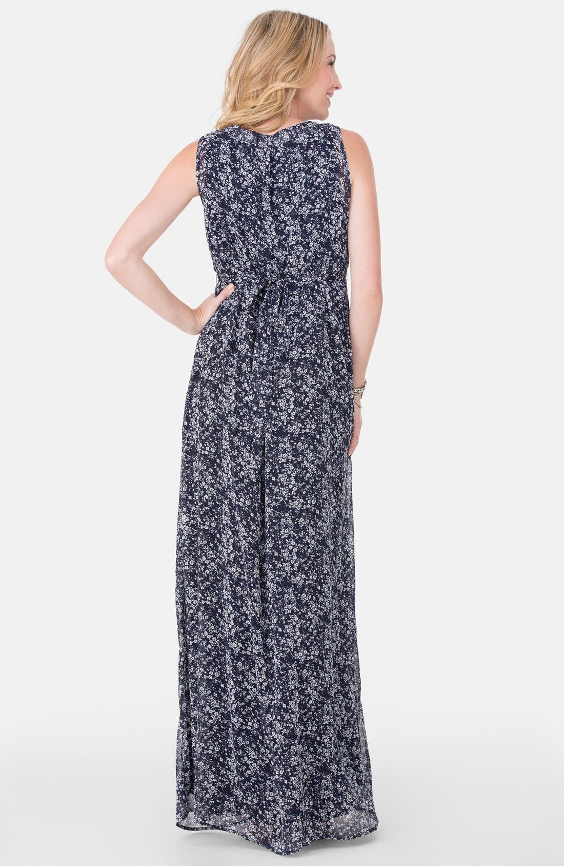 Alternate Image 2  - Ingrid & Isabel® Floral Print Maternity Maxi Dress