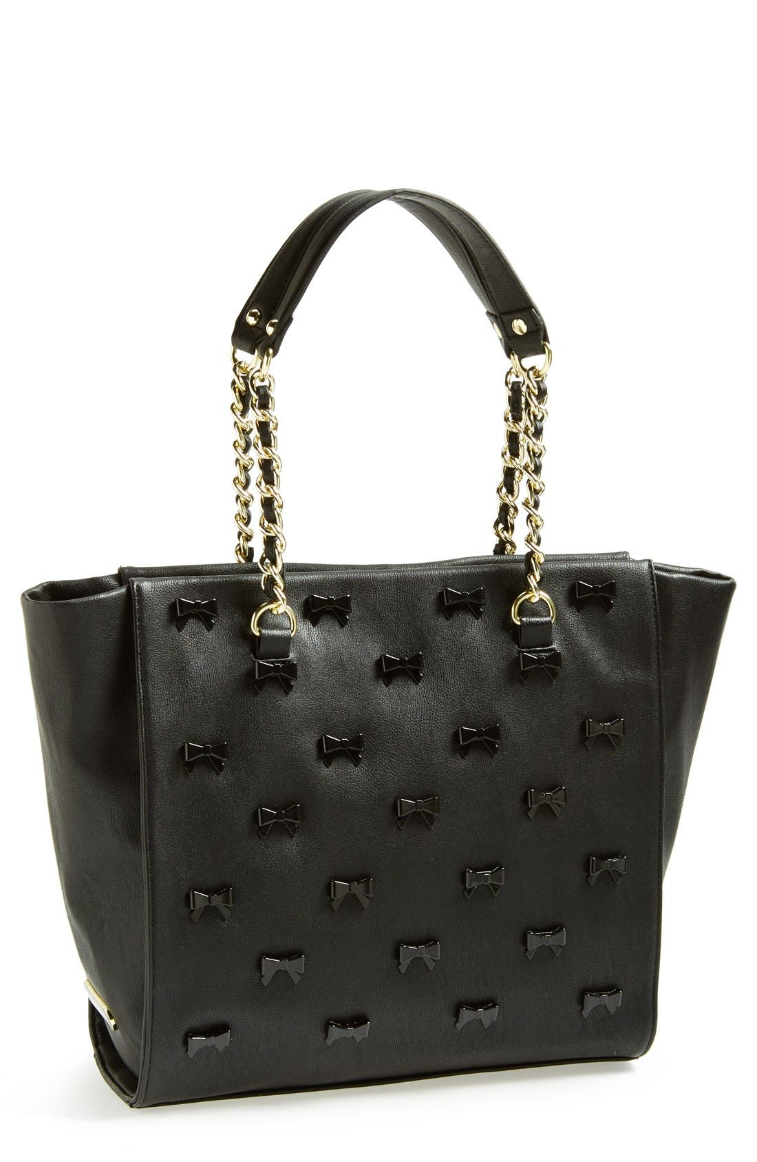 Alternate Image 1 Selected - Betsey Johnson Faux Leather Tote