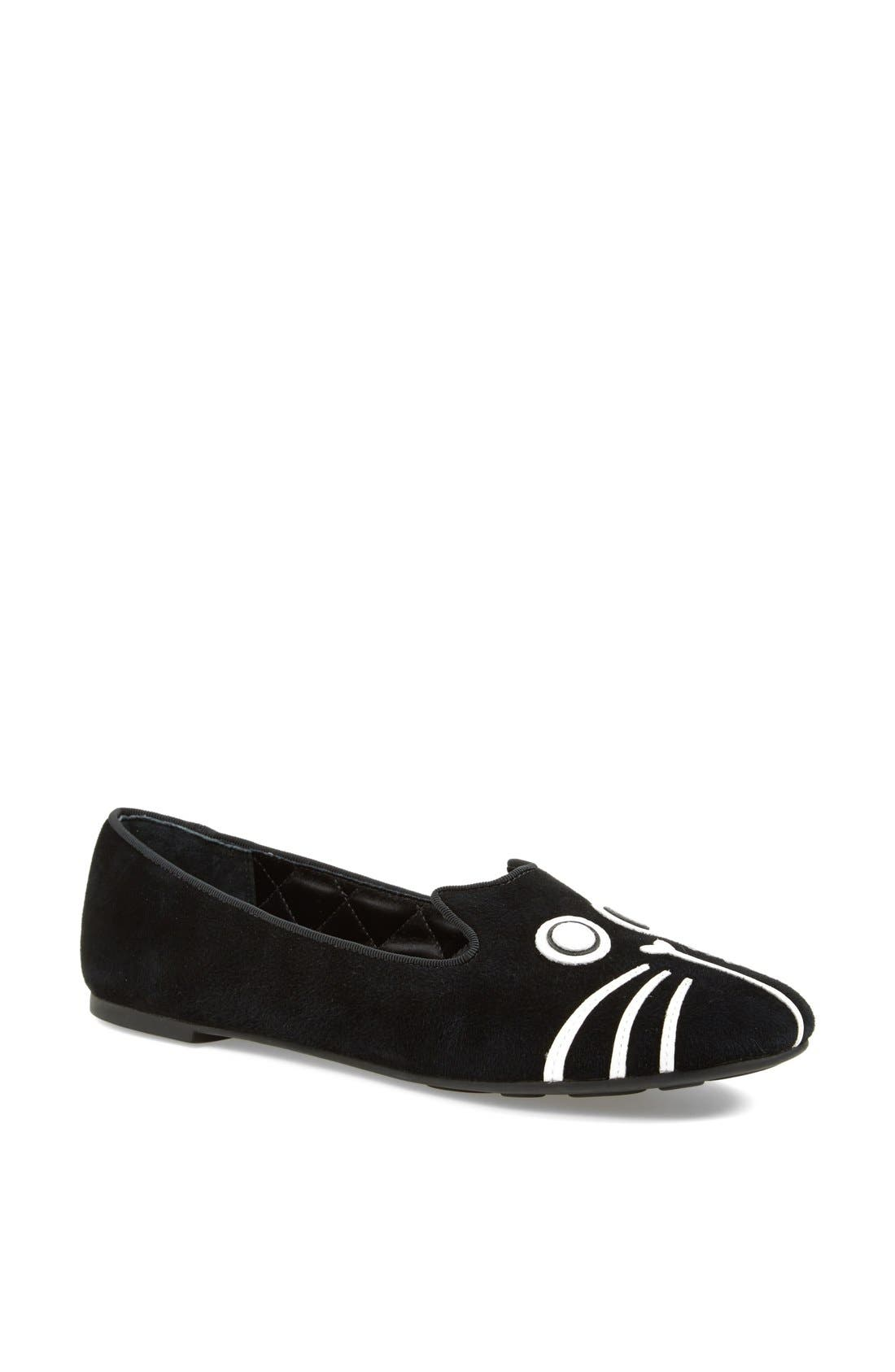Alternate Image 1 Selected - MARC BY MARC JACOBS 'Rue' Suede Smoking Flat