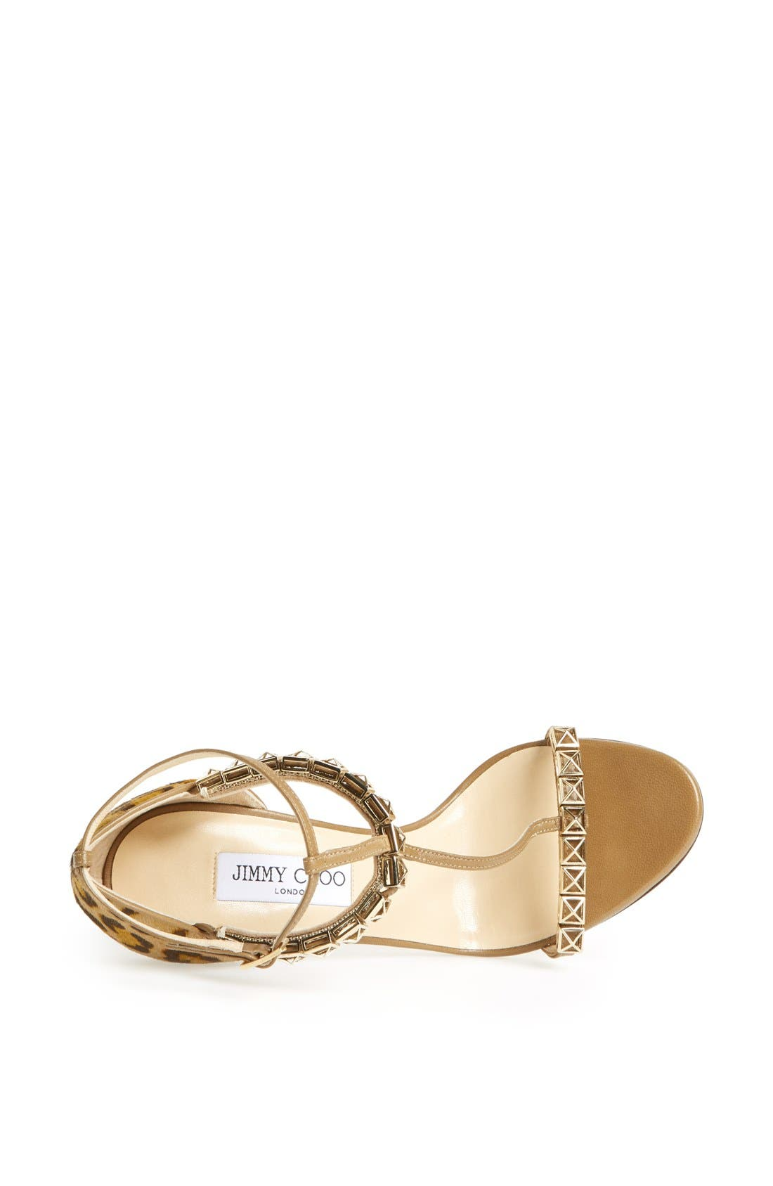Alternate Image 3  - Jimmy Choo 'Flint' Studded T-Strap Calf Hair Sandal