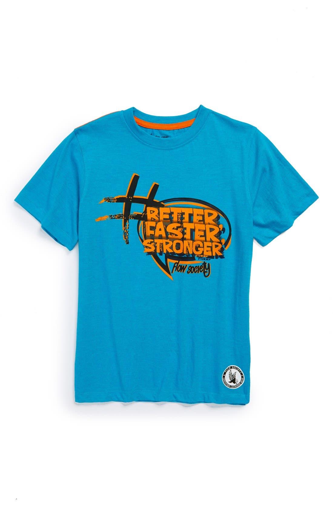 Alternate Image 1 Selected - Flow Society 'Better Faster Stronger' T-Shirt (Little Boys & Big Boys)
