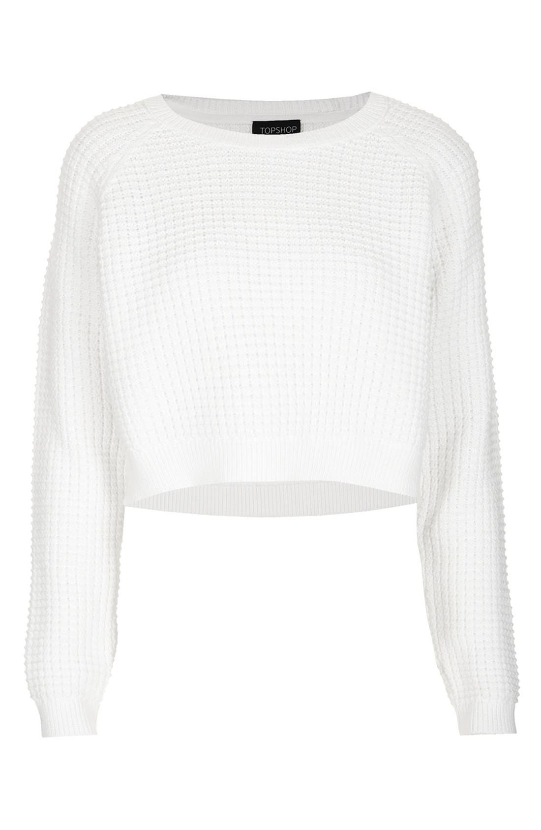 Alternate Image 3  - Topshop 'Fisherman' Crop Sweater