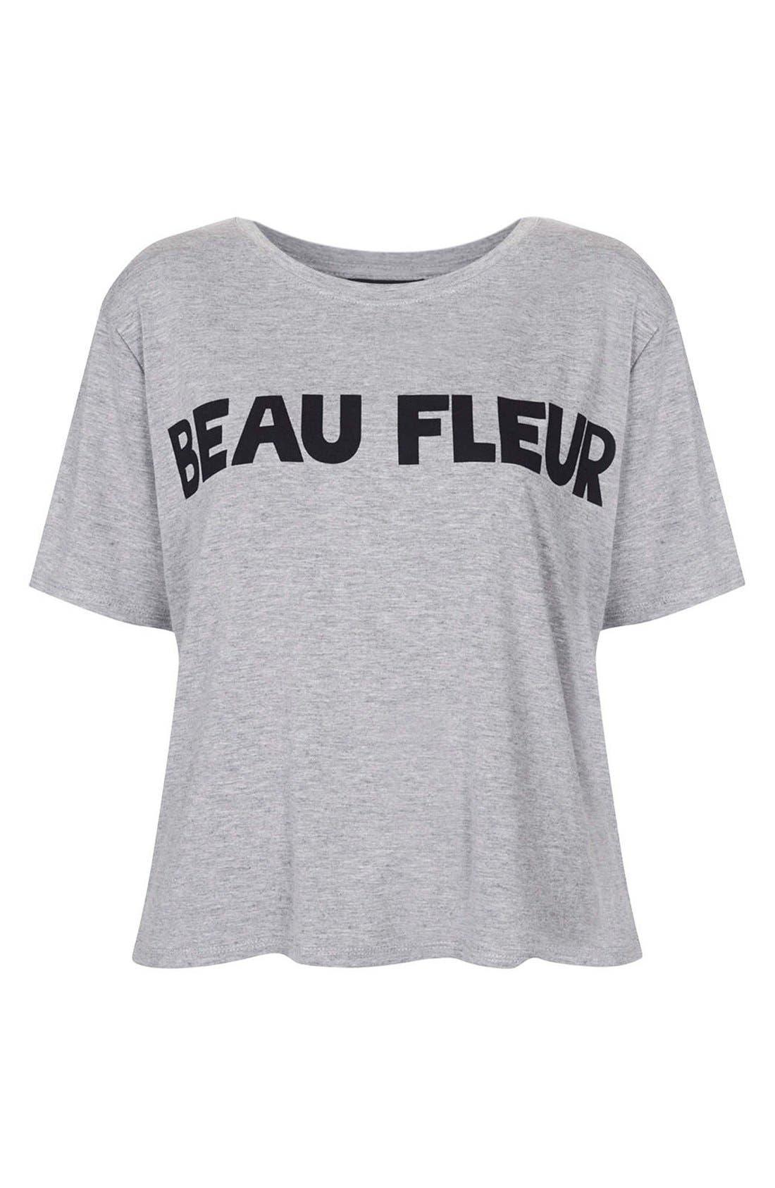 Alternate Image 3  - Topshop 'Beau Fleur' Graphic Tee