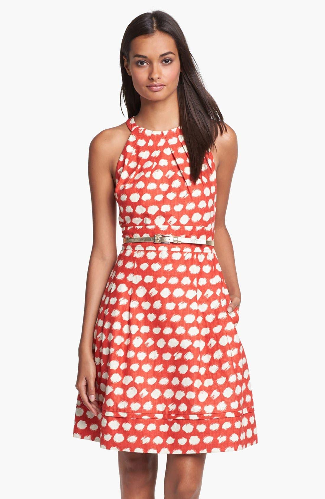 Main Image - Eliza J Belted A-Line Dress
