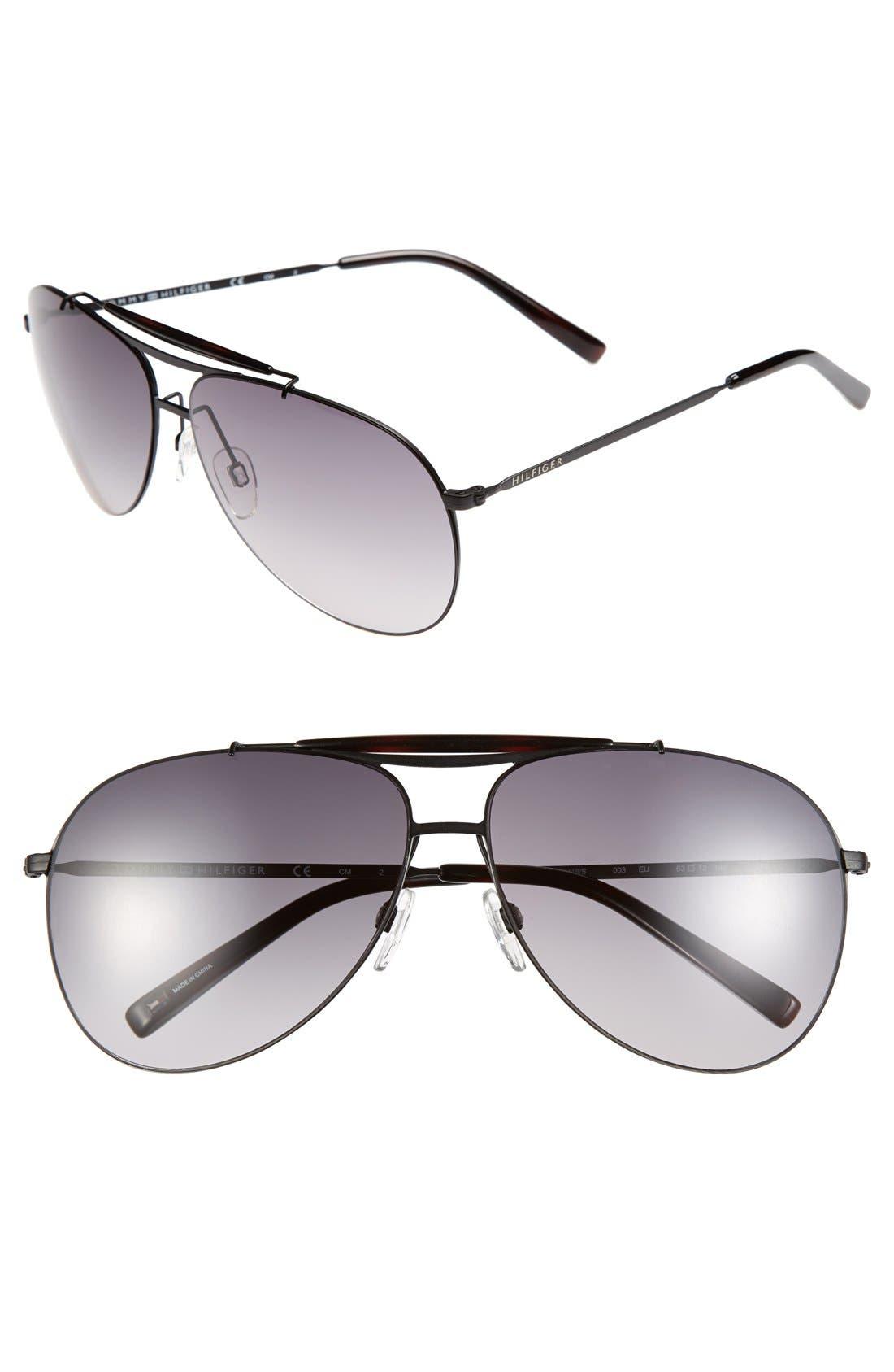 Main Image - Tommy Hilfiger 63mm Aviator Sunglasses