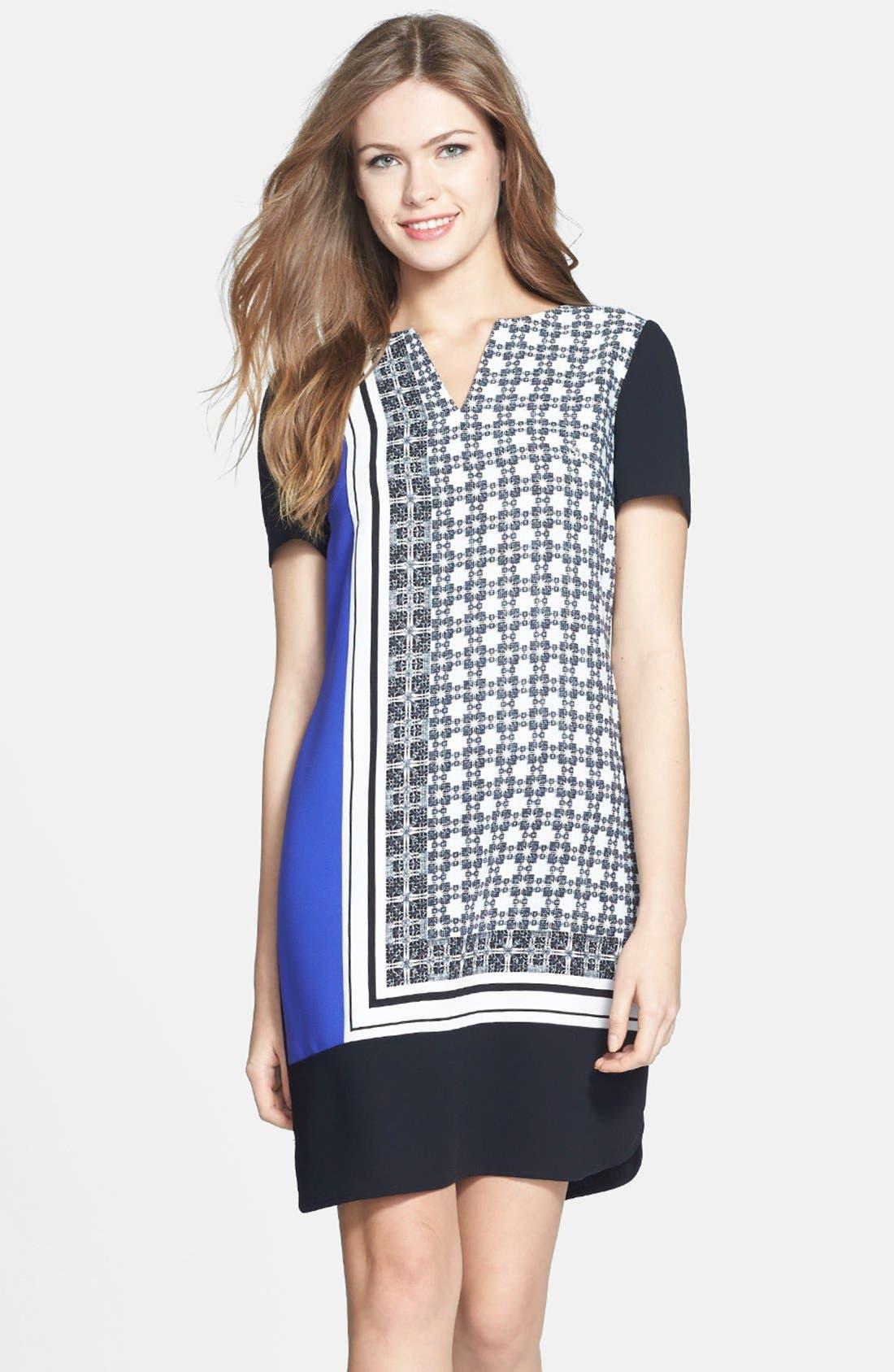 Main Image - Ivanka Trump Print Shift Dress