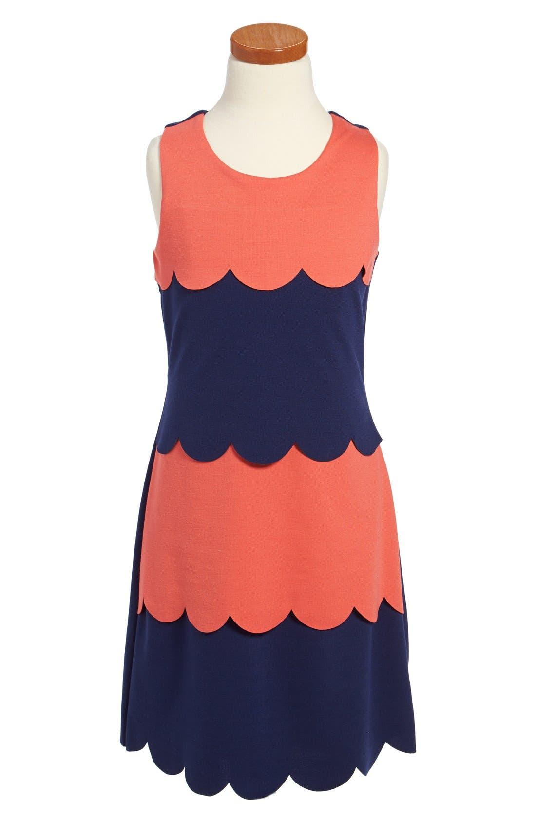 Main Image - BLUSH by Us Angels Ponte Knit Sheath Dress (Big Girls)