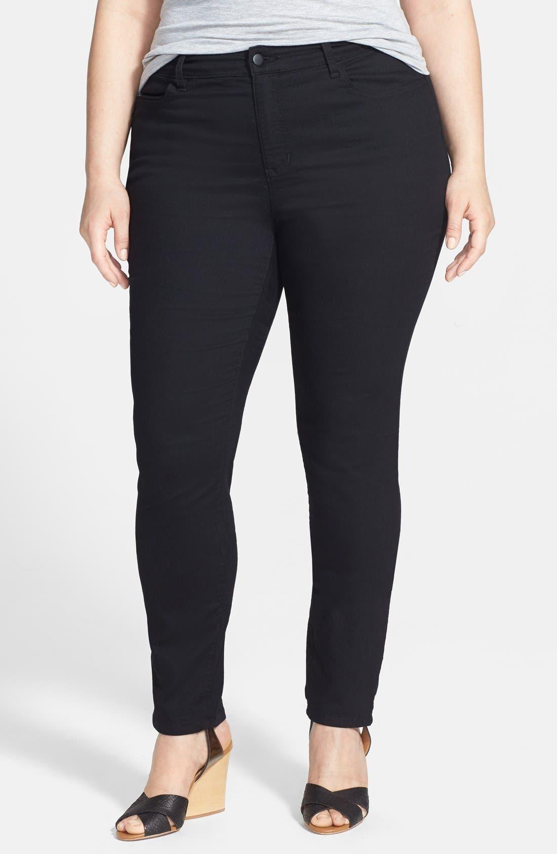 Alternate Image 1 Selected - Eileen Fisher Denim Leggings (Plus Size)